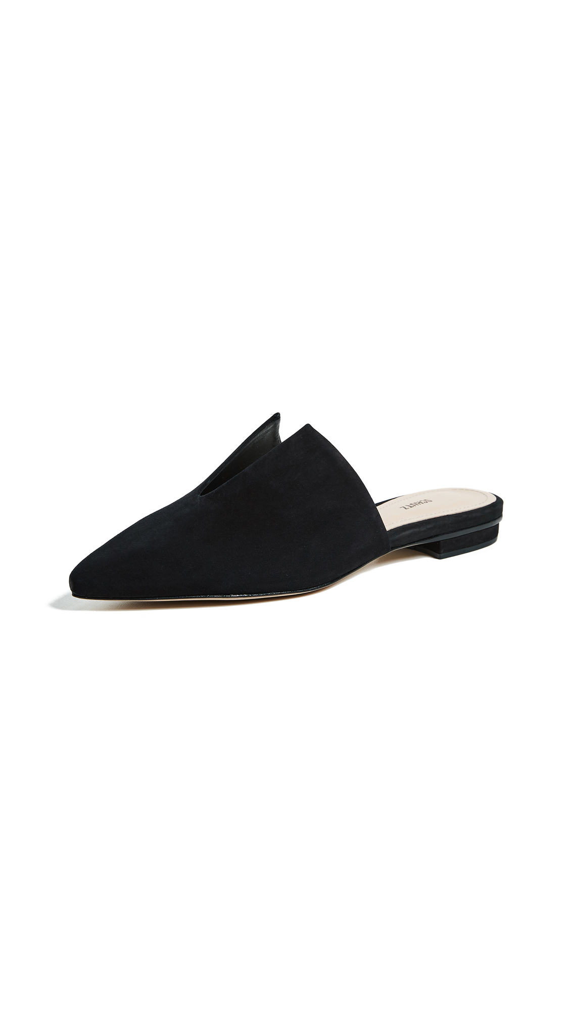 Schutz Kirsten Point Toe Mules - Black