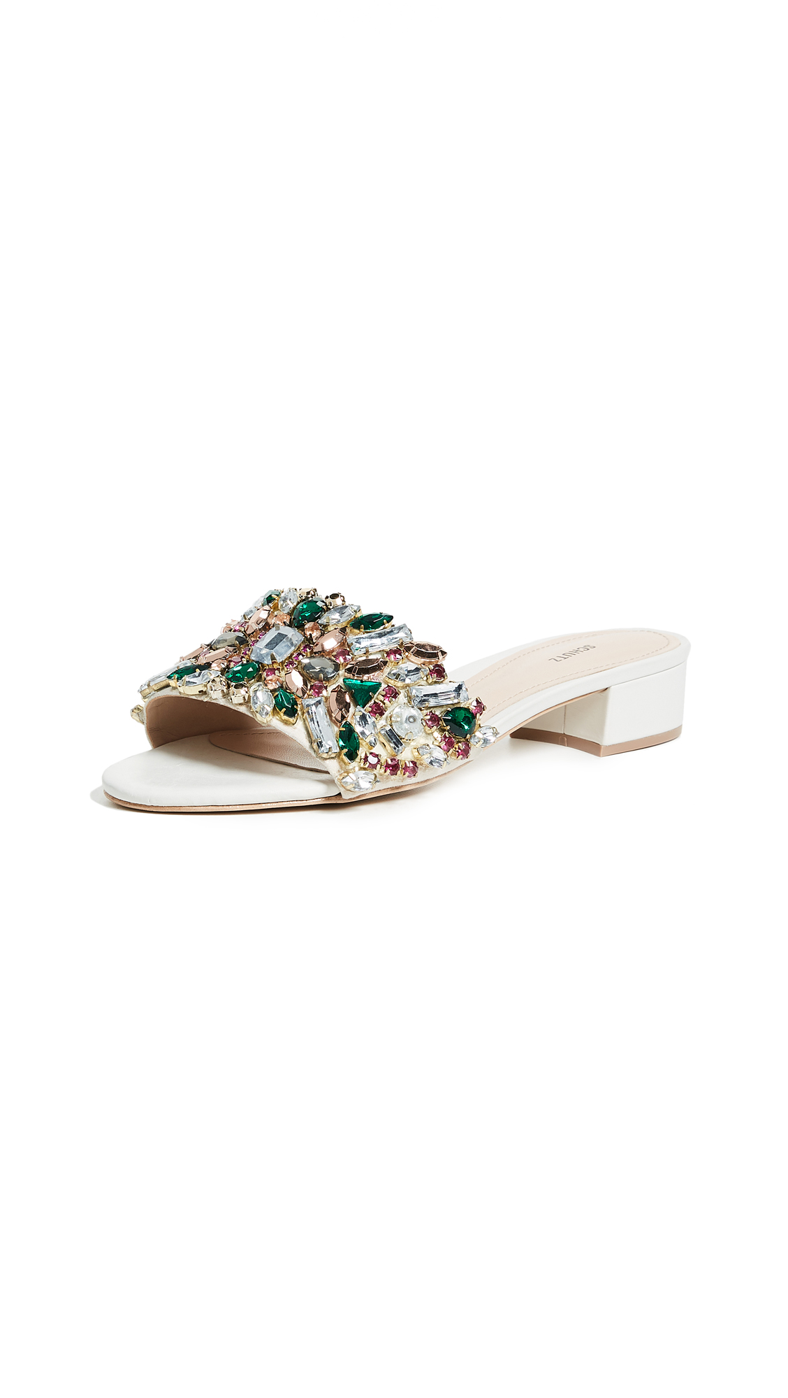 Victoria Embellished Leather Slides