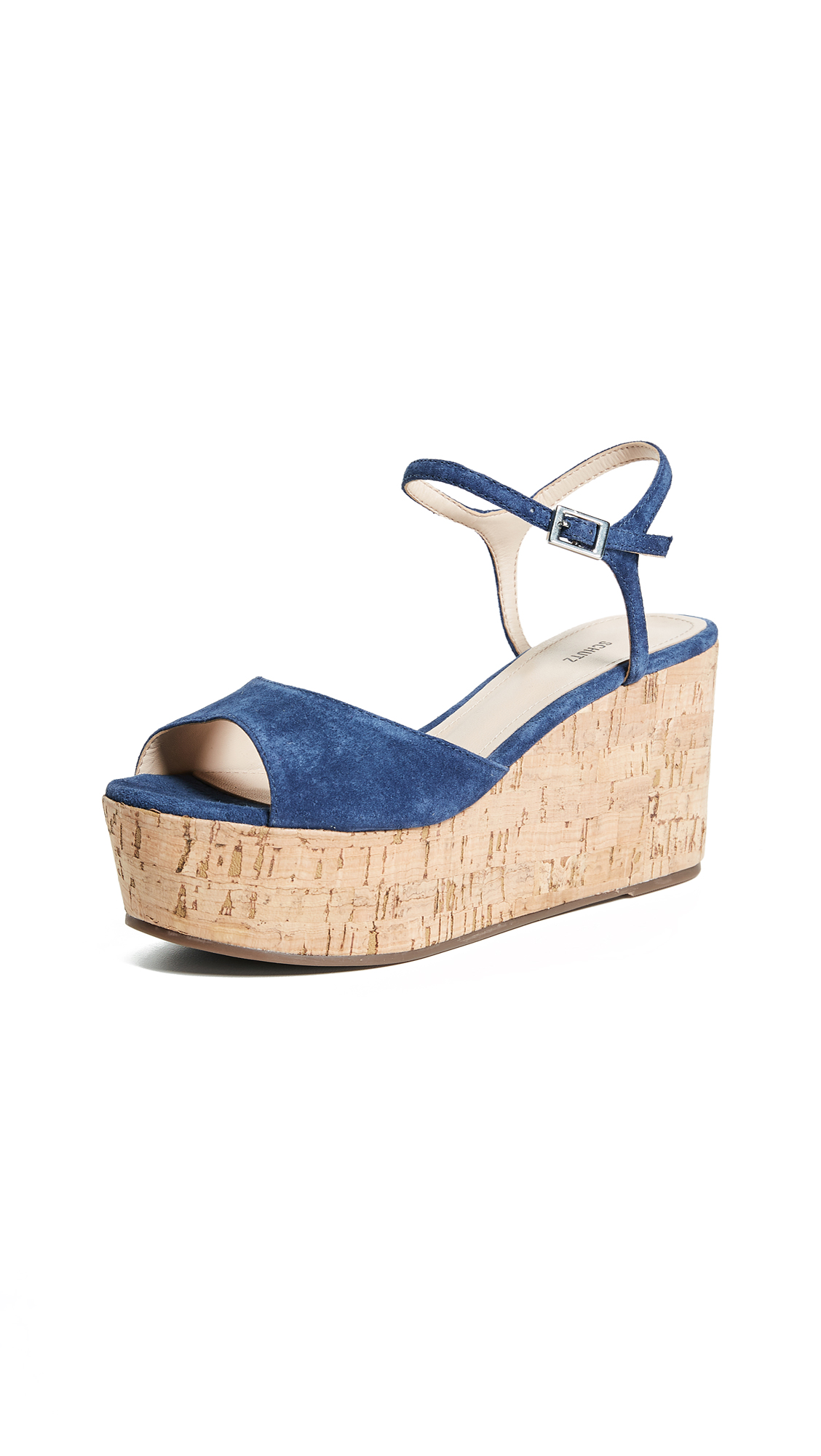 Schutz Heloise Flatforms - Dress Blue