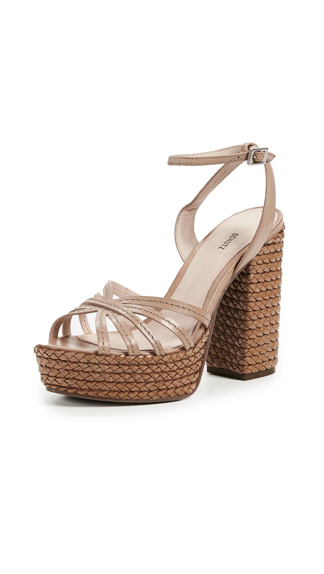 Schutz Hortencia Platform Sandals - Desert