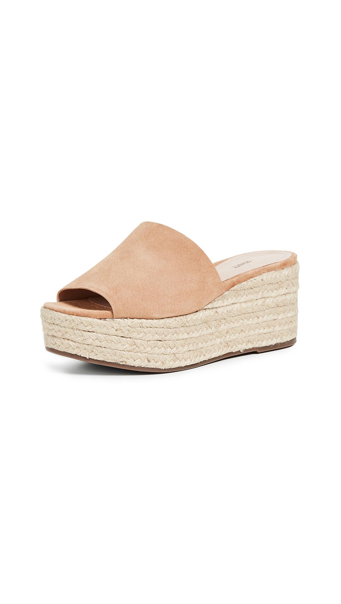 Schutz Thalia Flatform Sandals - Desert