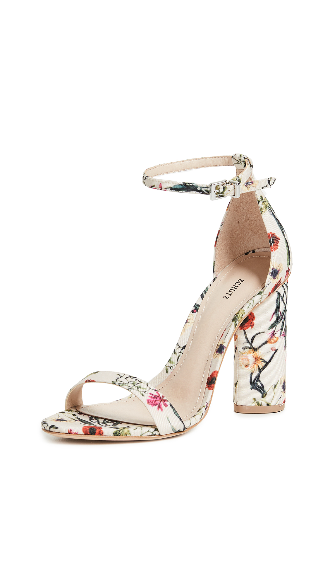 Schutz Jeannine Block Heel Sandals - Multi