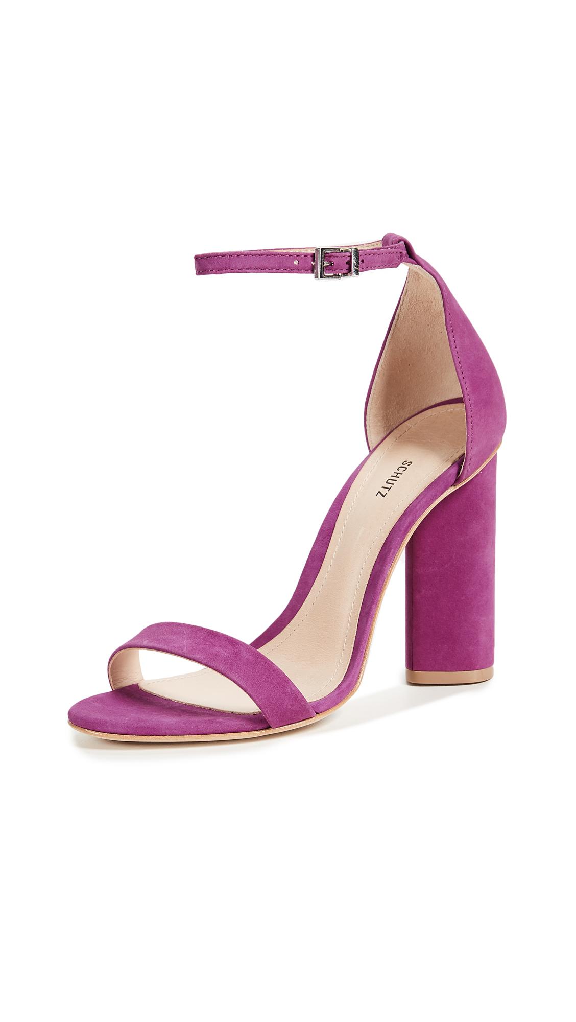 Schutz Jeannine Block Heel Sandals - Grape