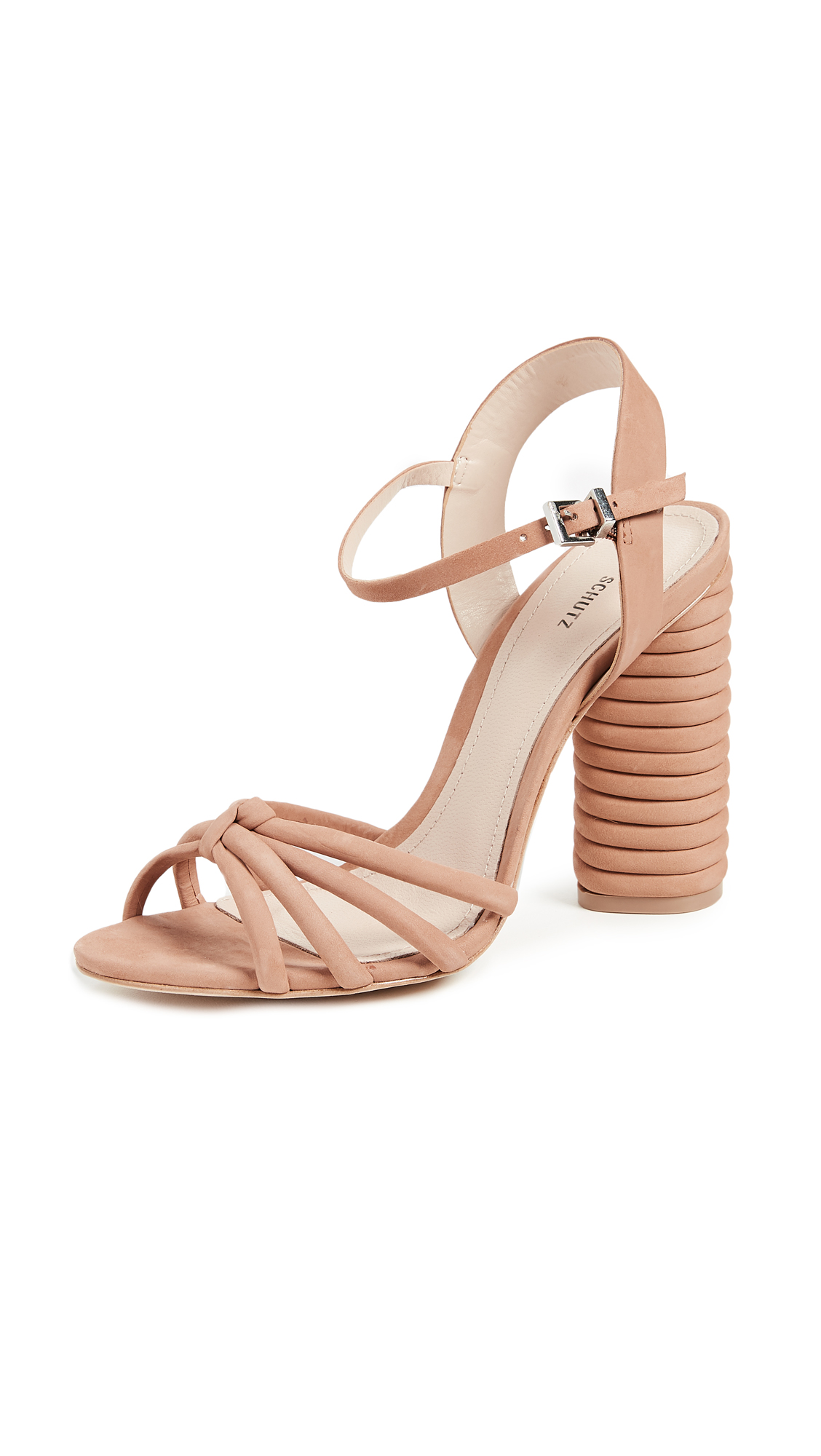 Schutz Paolla Ankle Strap Sandals - Toasted Nut
