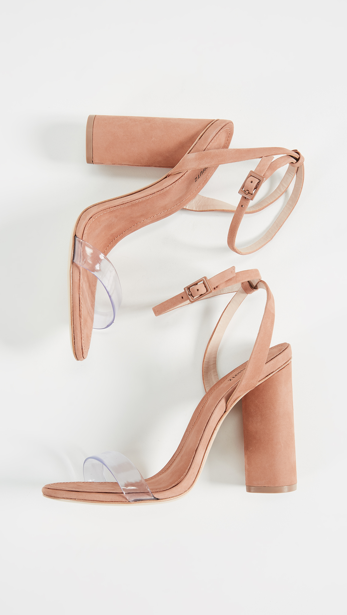 3739f4fbb98e Schutz Geisy PVC Block Heel Sandals
