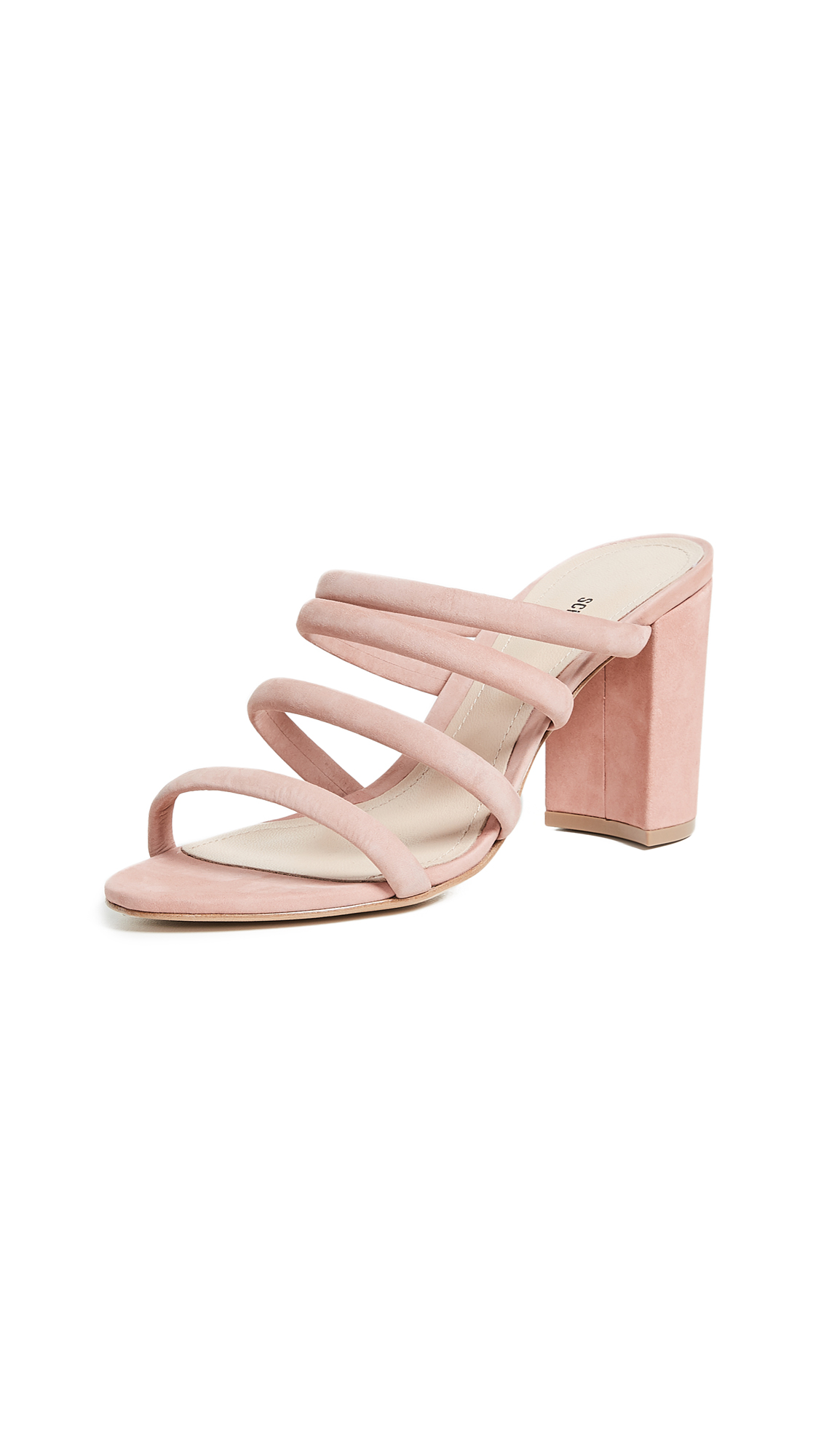 Schutz Felisa Tubular Sandals - Poppy Rose