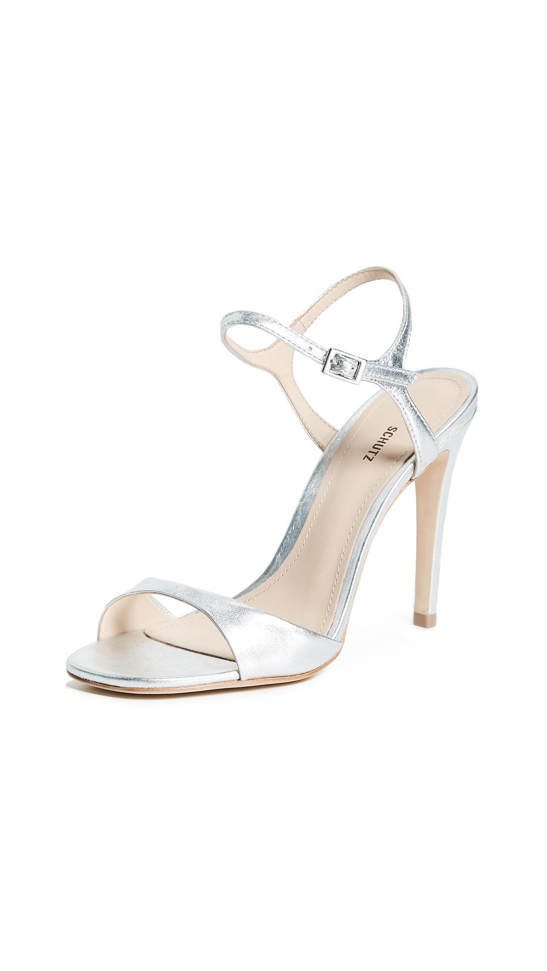 Schutz Jade Strappy Sandals - Prata