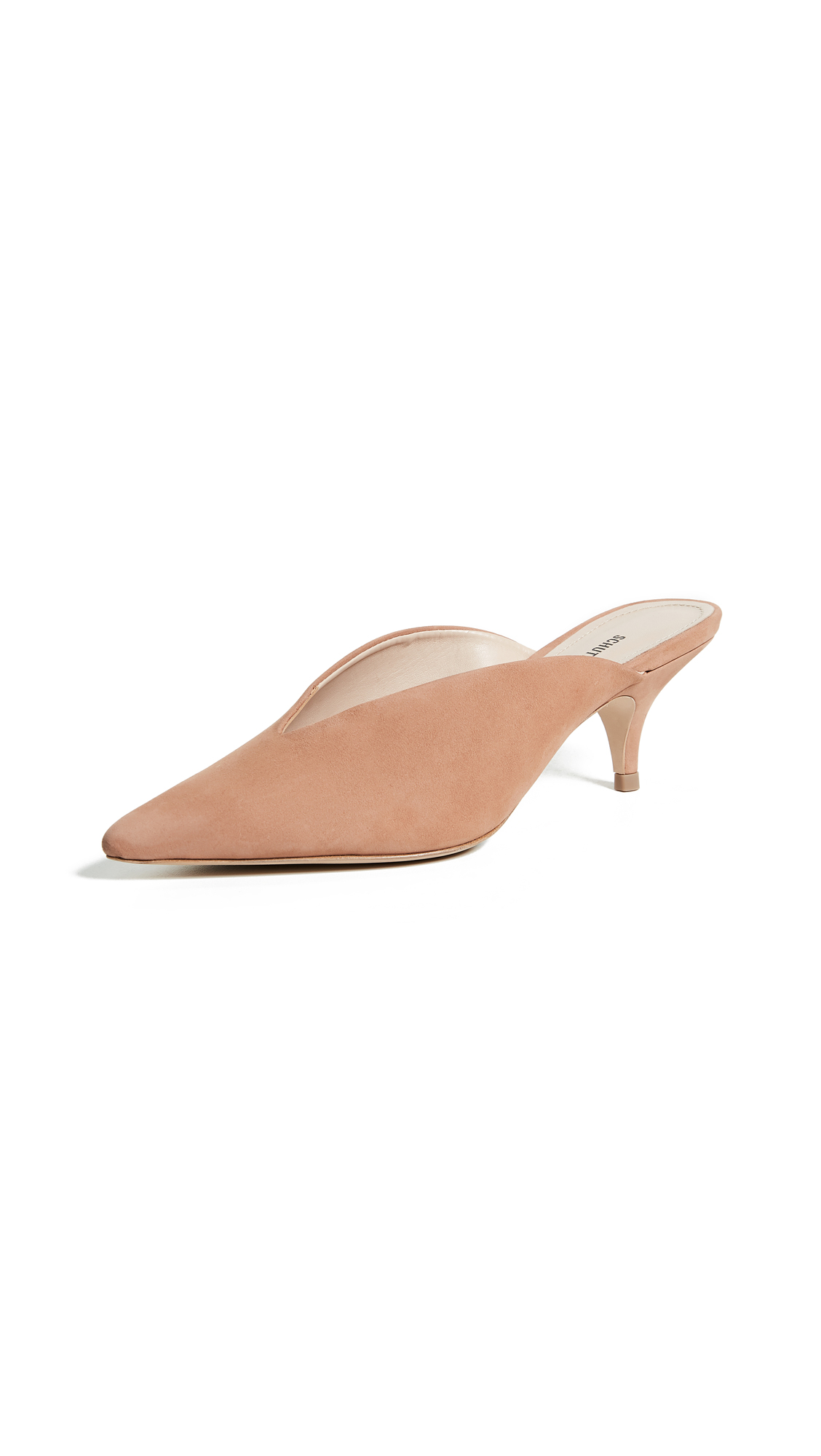 Schutz Alanna Point Toe Mules - Toasted Nut