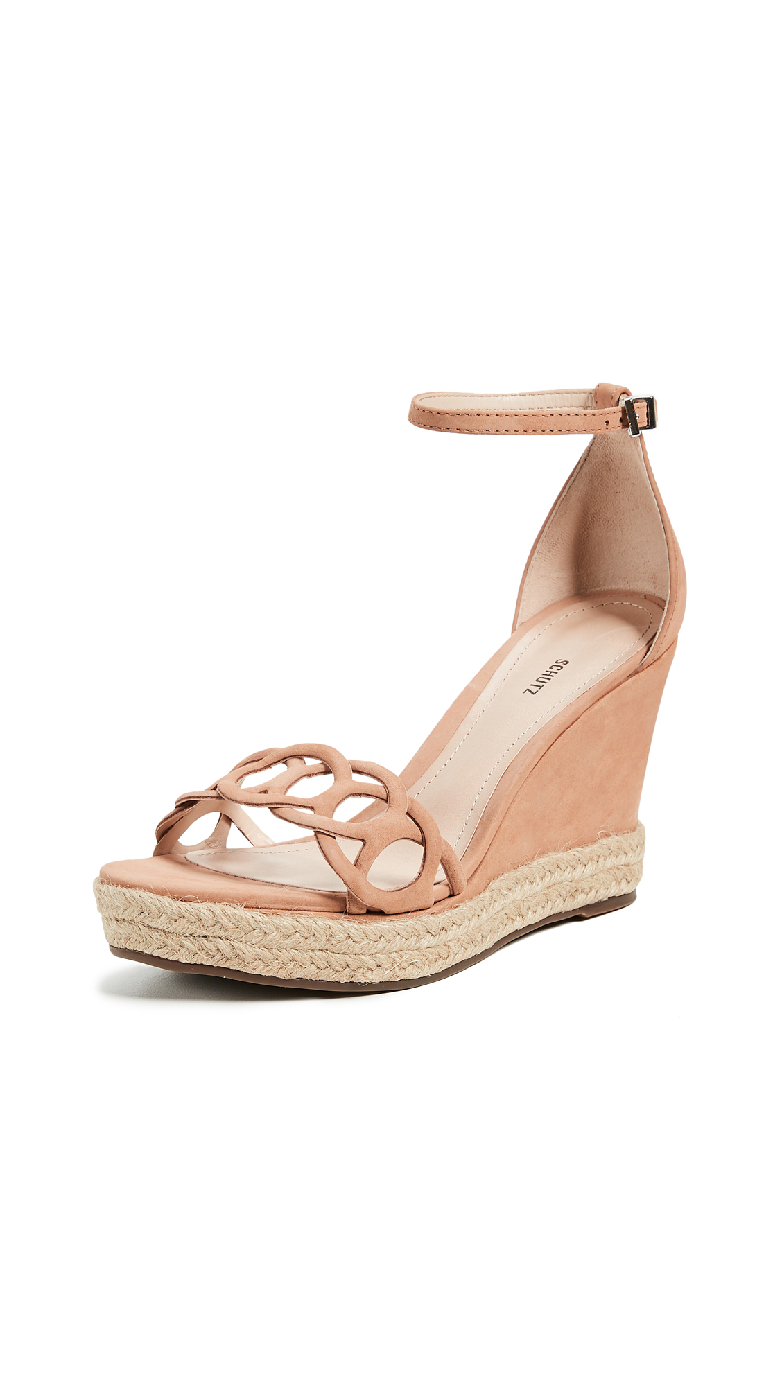 Schutz Keira Wedge Sandals - Toasted Nut