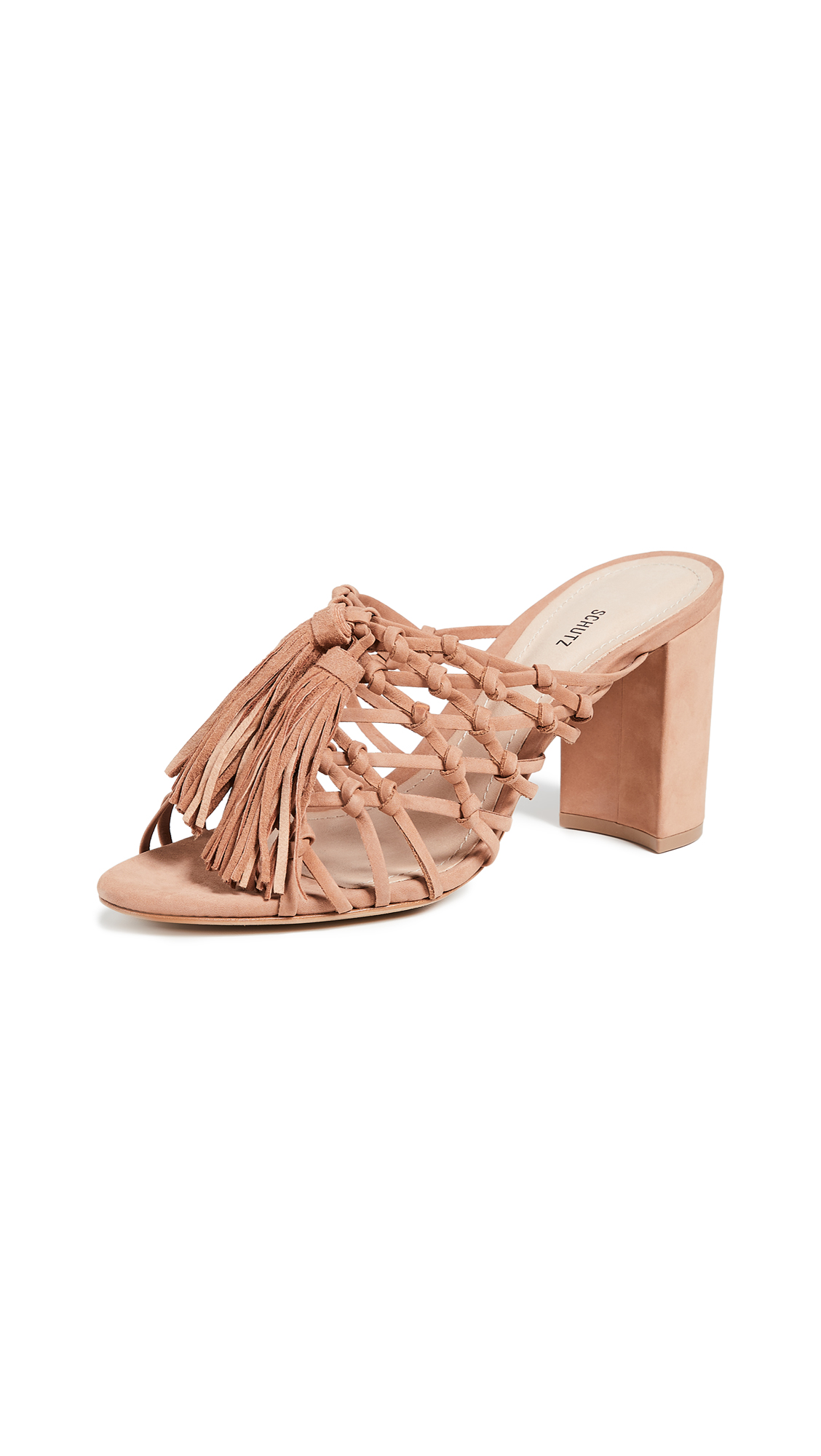 Schutz Emily Tassel Sandals - Toasted Nut