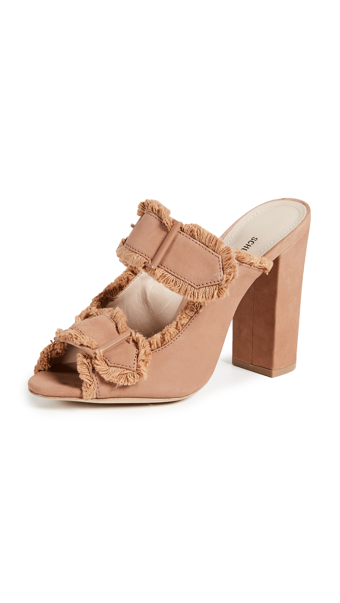 Schutz Sabriely Block Heel Sandals - Toasted Nut