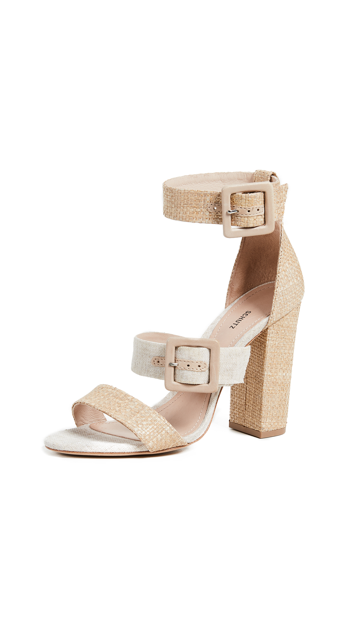 Schutz Sarah Strappy Sandals - Natural