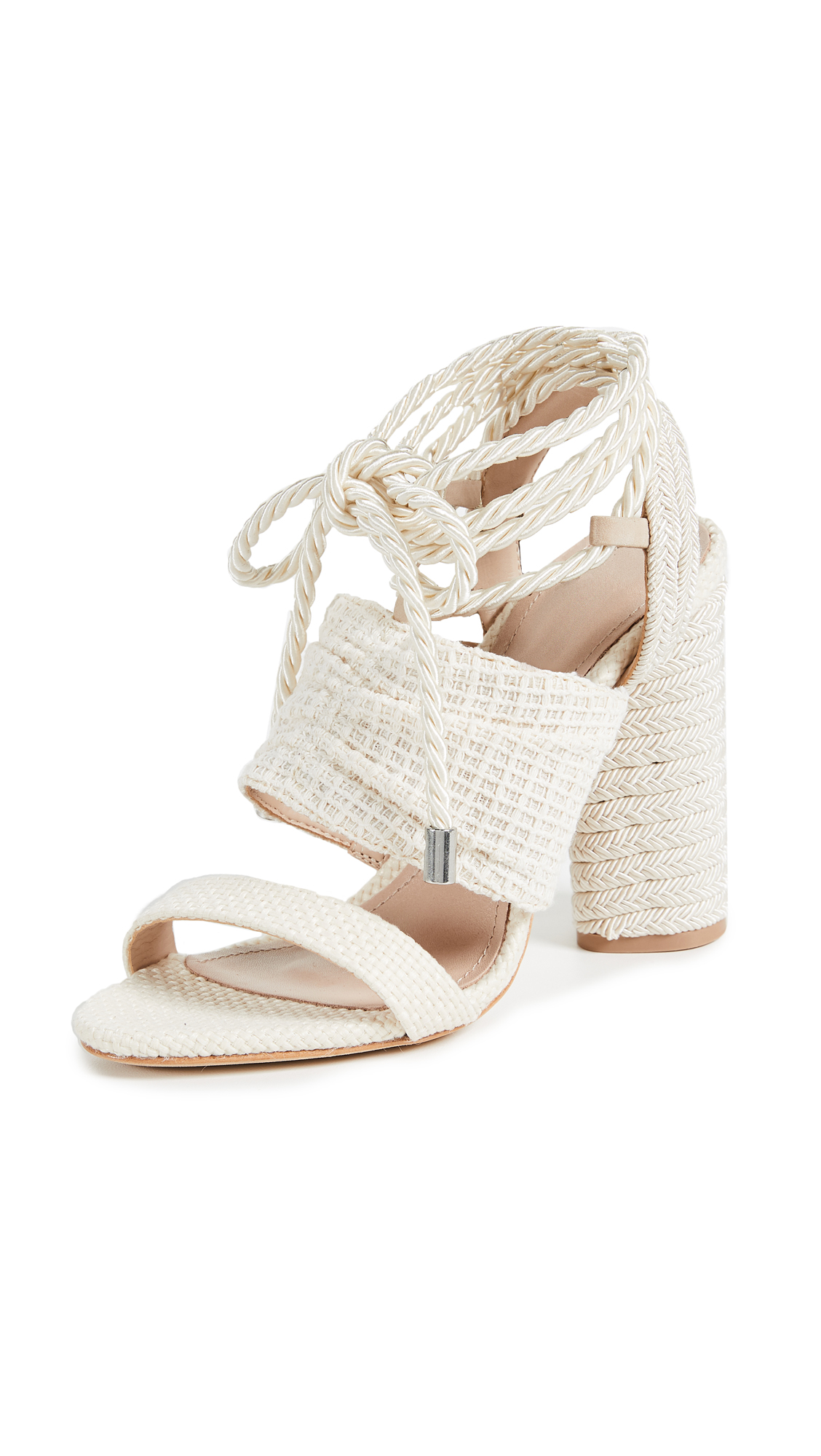 Schutz Lenice Strappy Sandals - Cru/Pearl