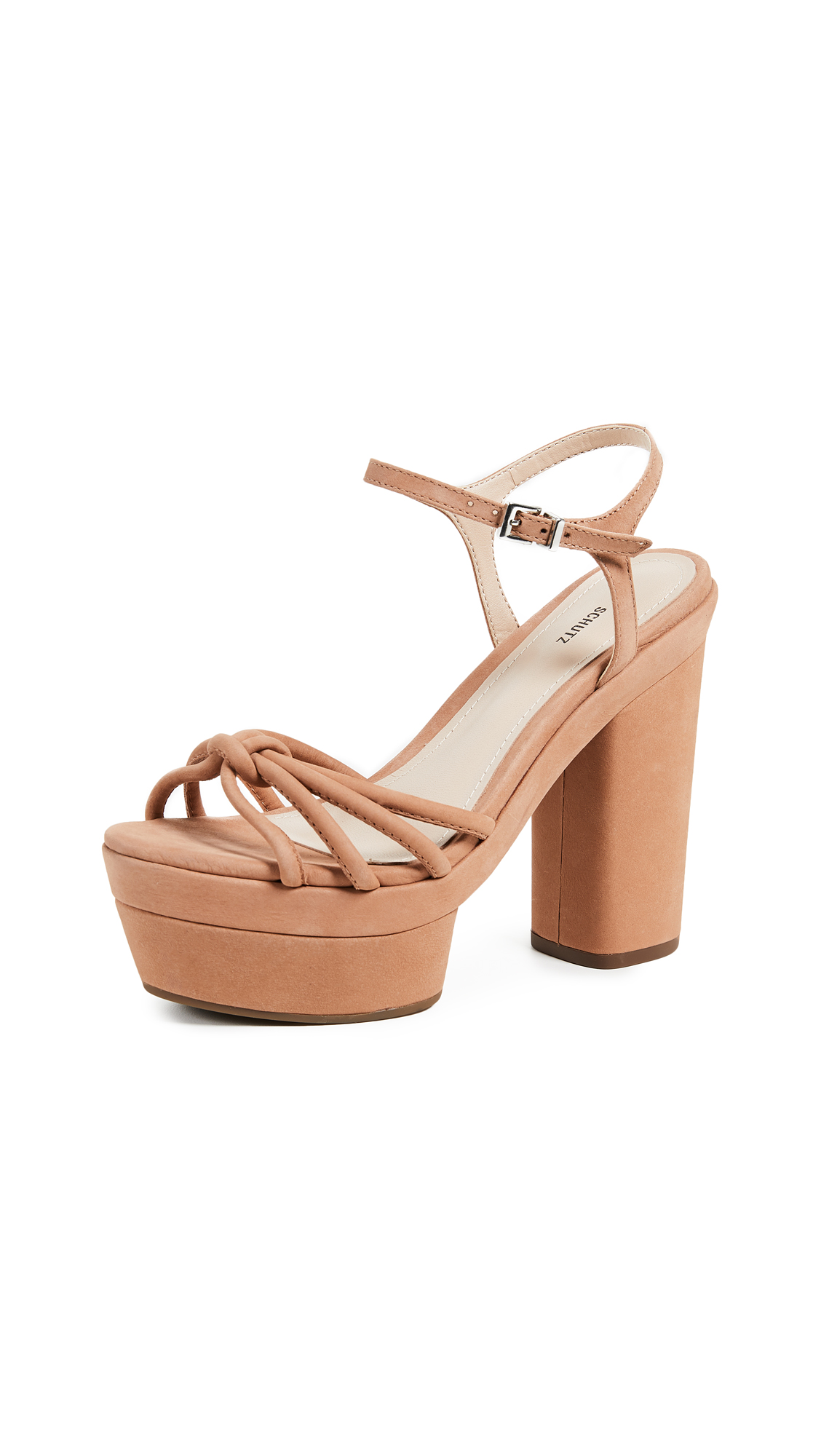Schutz Faubina Platform Sandals - Toasted Nut