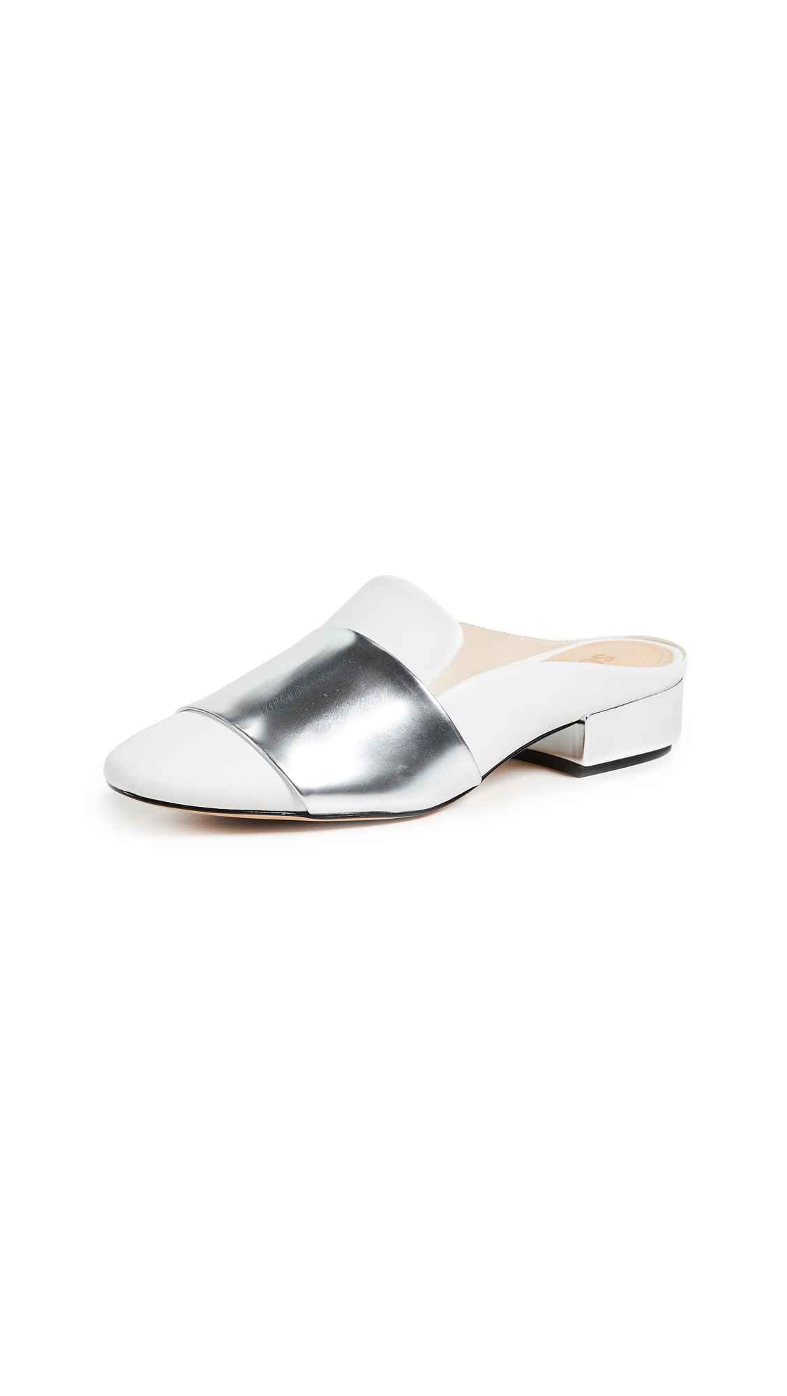 Schutz Eunice Mules - White/Silver