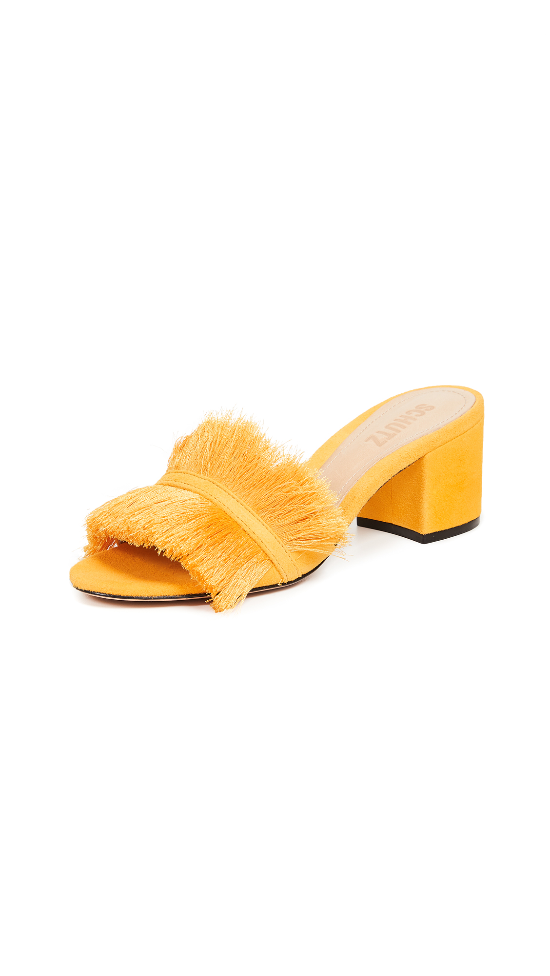 Schutz Elza Fringe Slides - Mary Gold