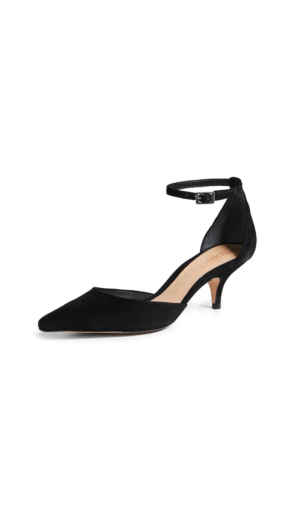 Schutz Kamilli Kitten Heels - Black
