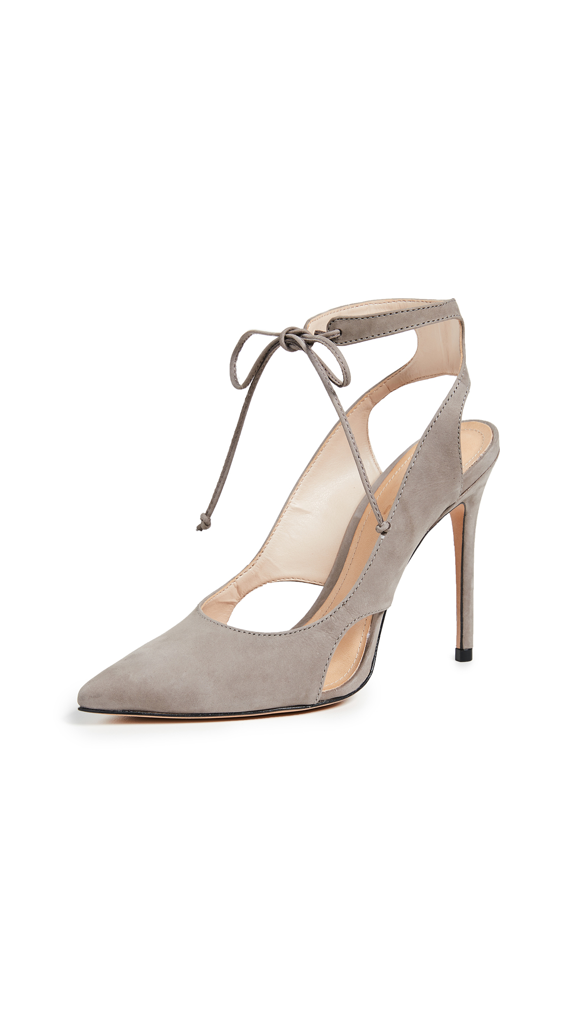 Schutz Sharon Point Toe Strappy Pumps - Mouse