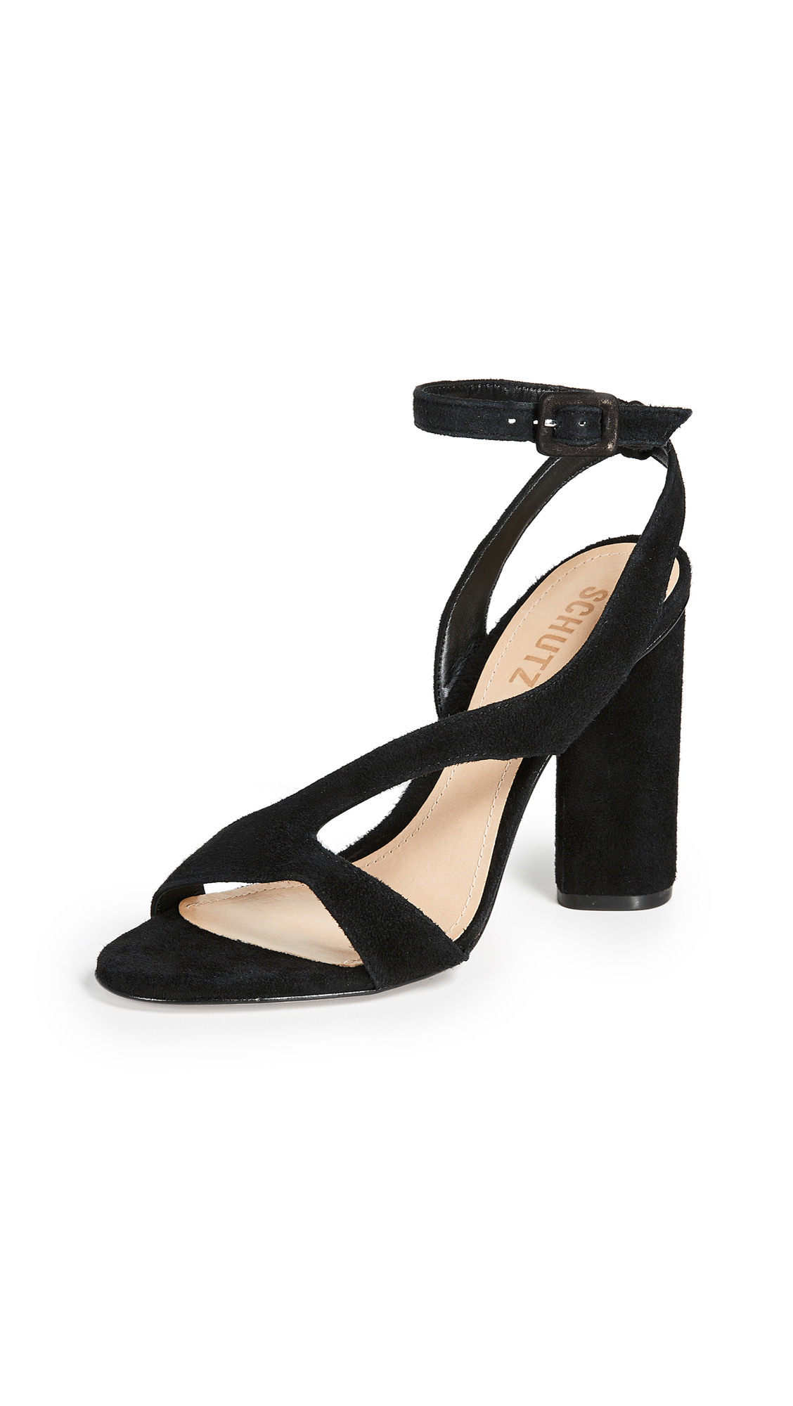 Schutz Rutte Strappy Sandals - Black