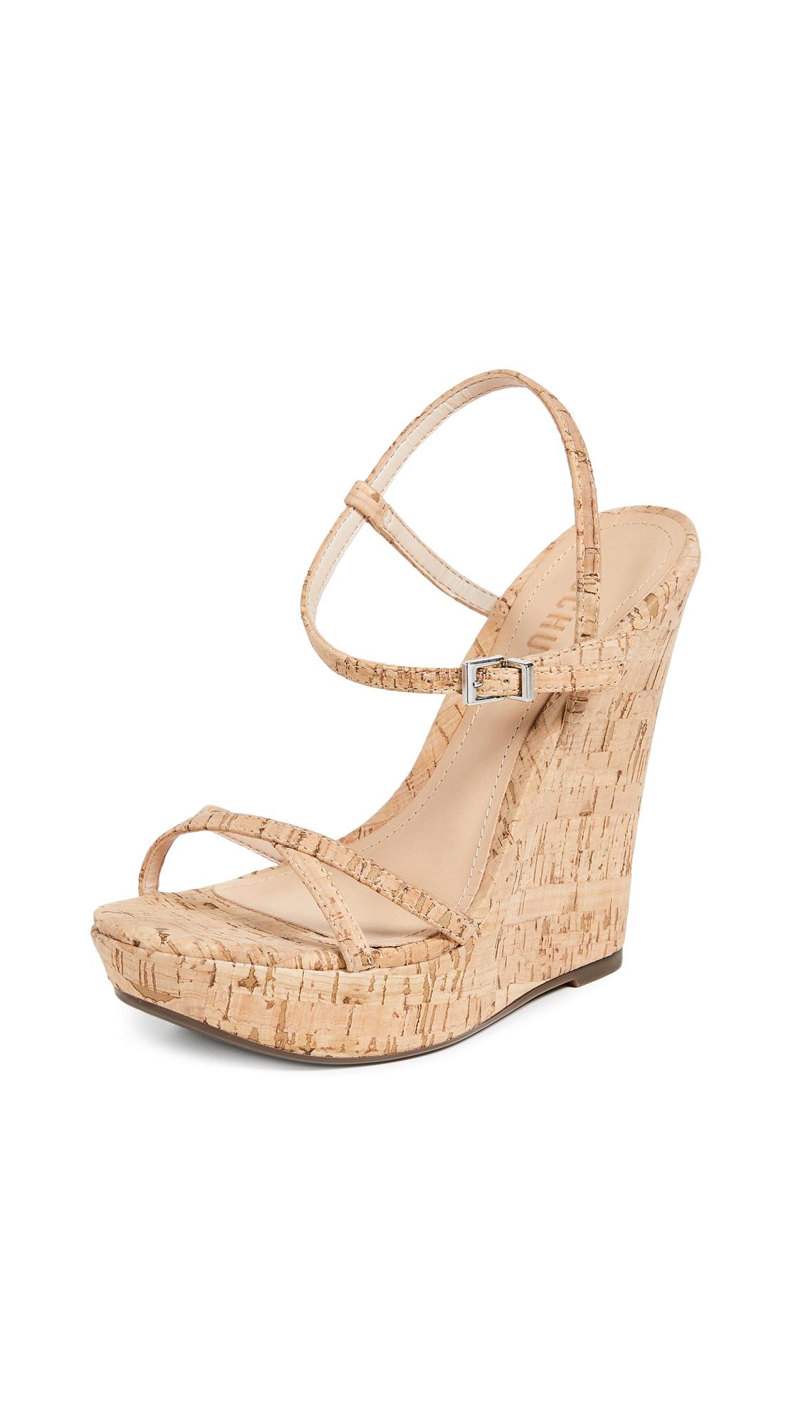 Schutz Auria Wedge Sandals - Natural