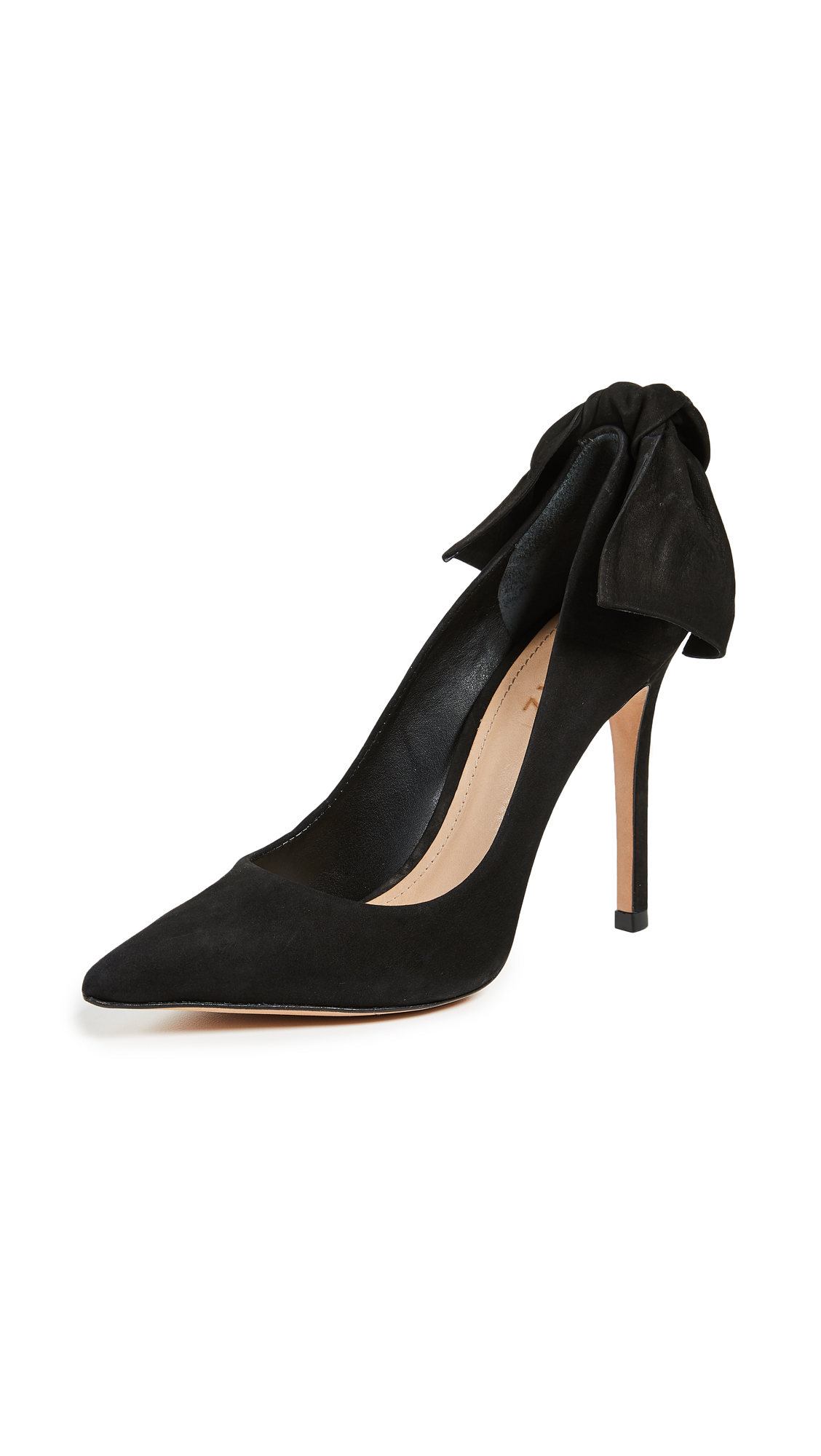 Schutz Blasiana Bow Point Toe Pumps - Black
