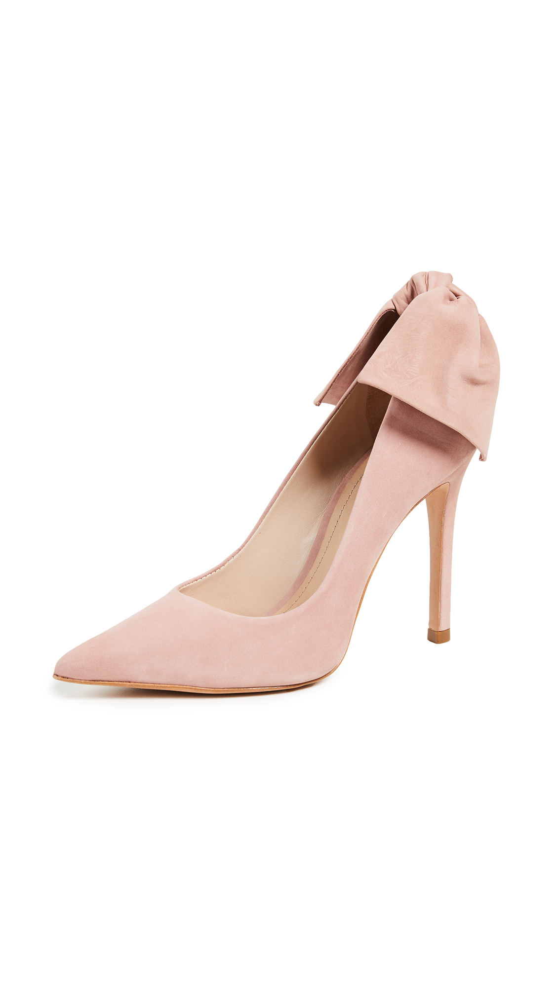 Schutz Blasiana Bow Point Toe Pumps - Poppy Rose