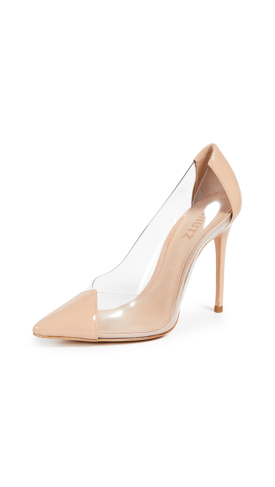 Schutz Cendi Point Toe Pumps - Honey Beige