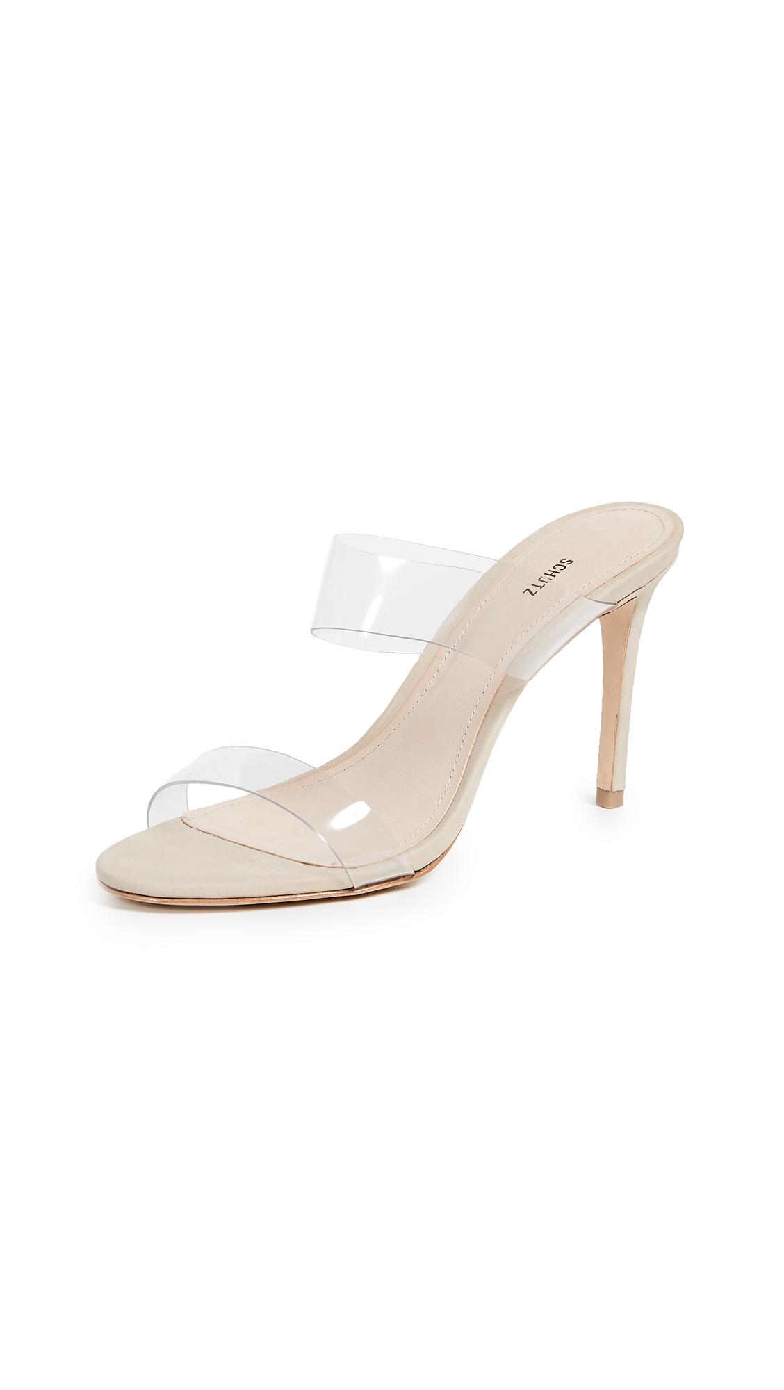 Schutz Ariella Strappy Sandals - Transparent