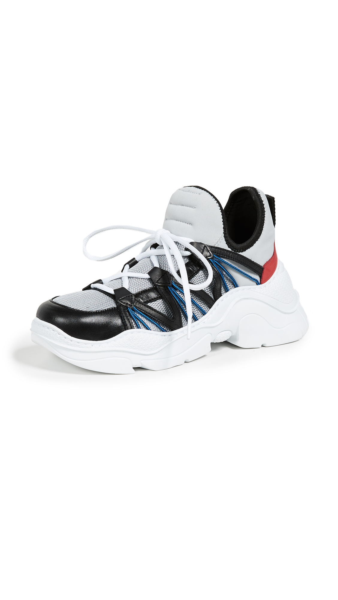Schutz Multicolor Sneakers - Silver/Black