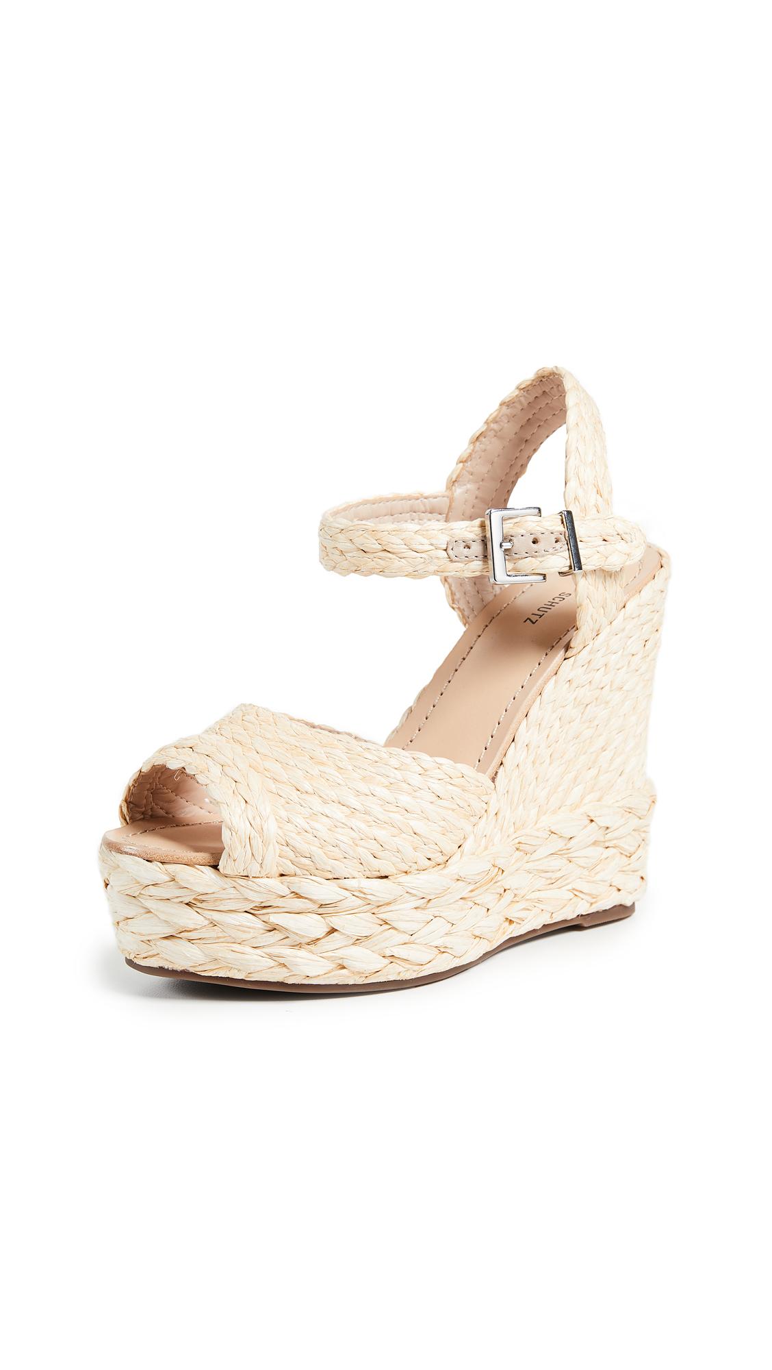Schutz Belatrix Espadrille Sandals - Natural/Black
