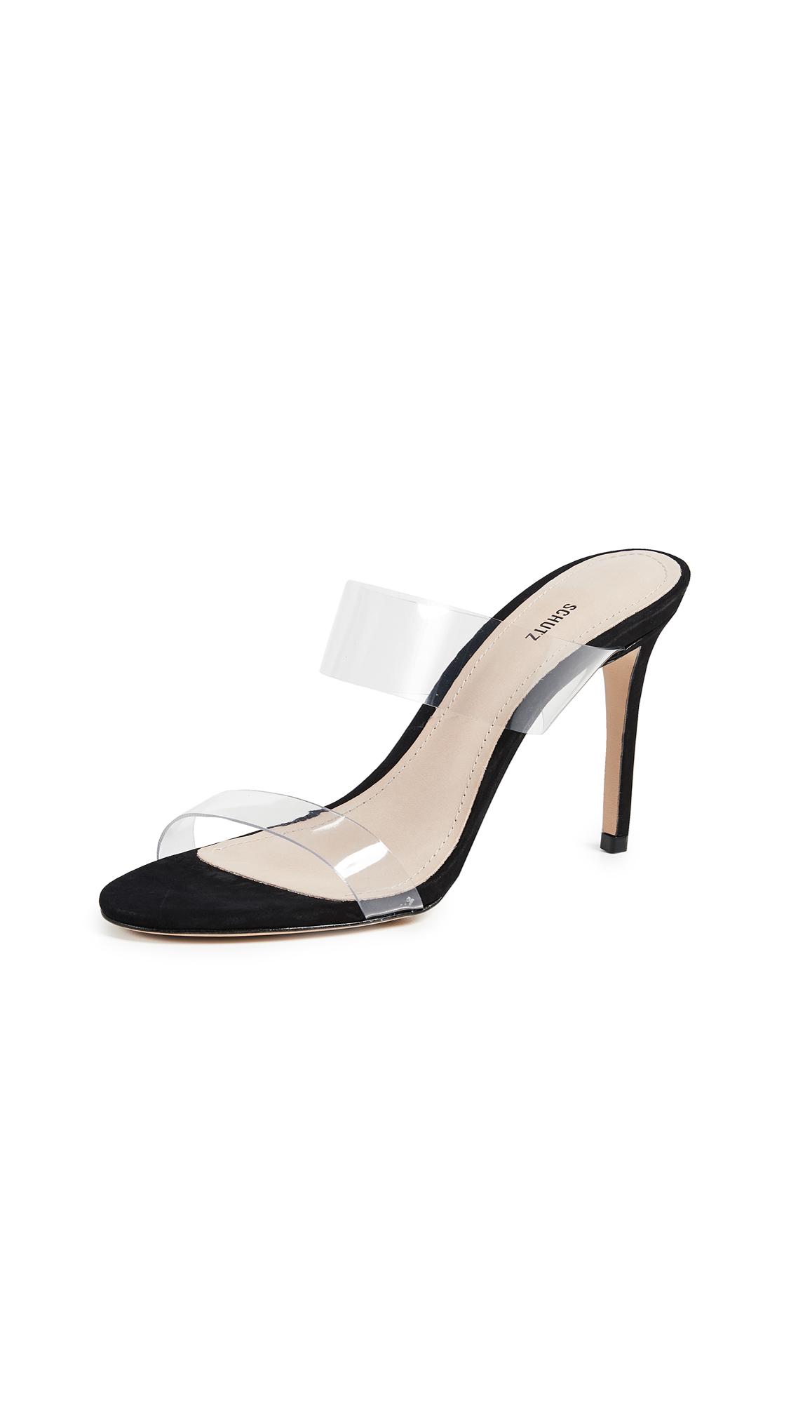 Schutz Ariella Strappy Sandals - Black