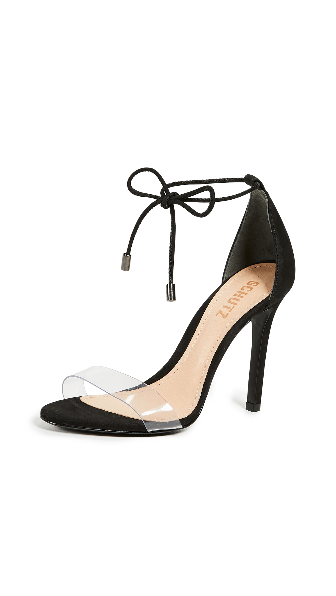 Schutz Josseana Strappy Sandals - Black/Transparent