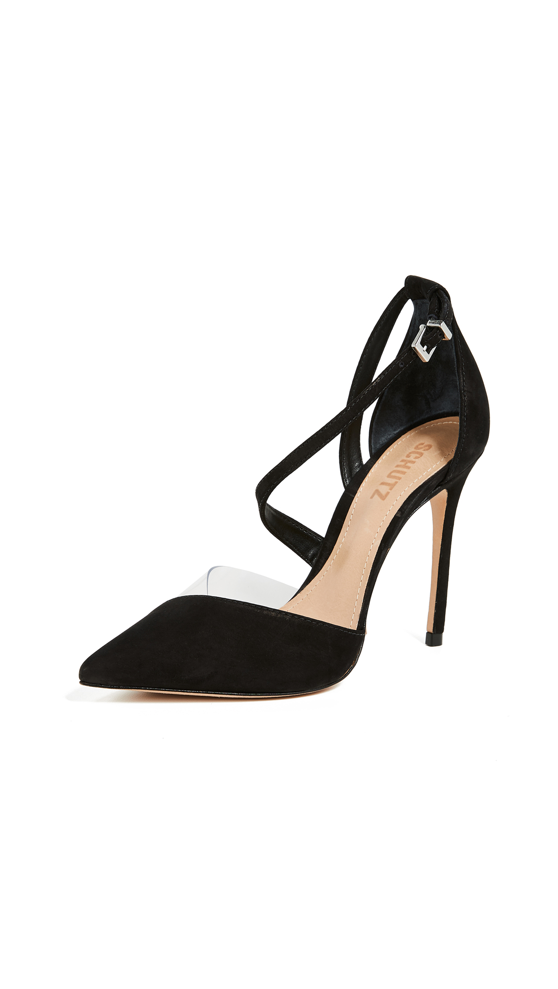 Schutz Nissy dOrsay Pumps - Black/Transparent