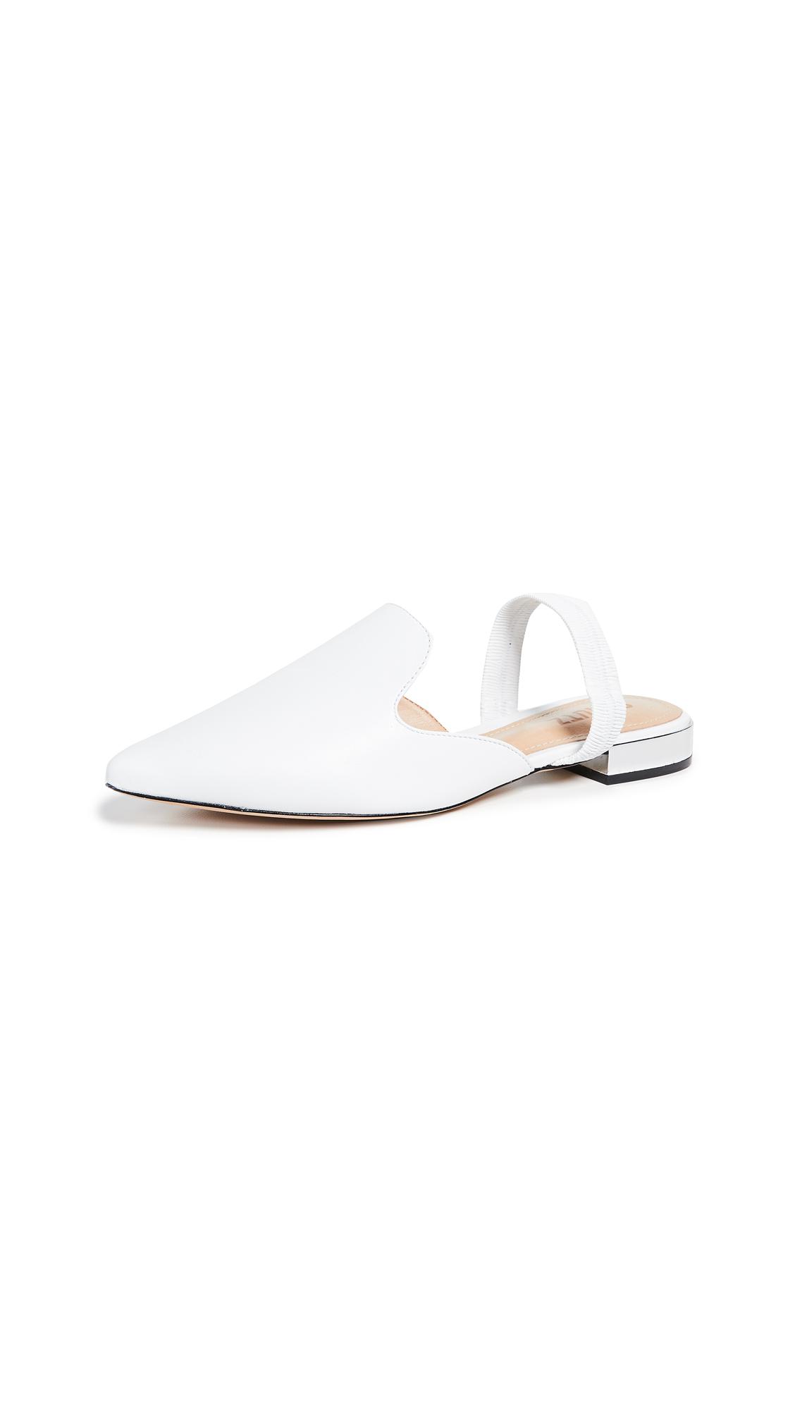 Schutz Ylanna Slingback Flats - White