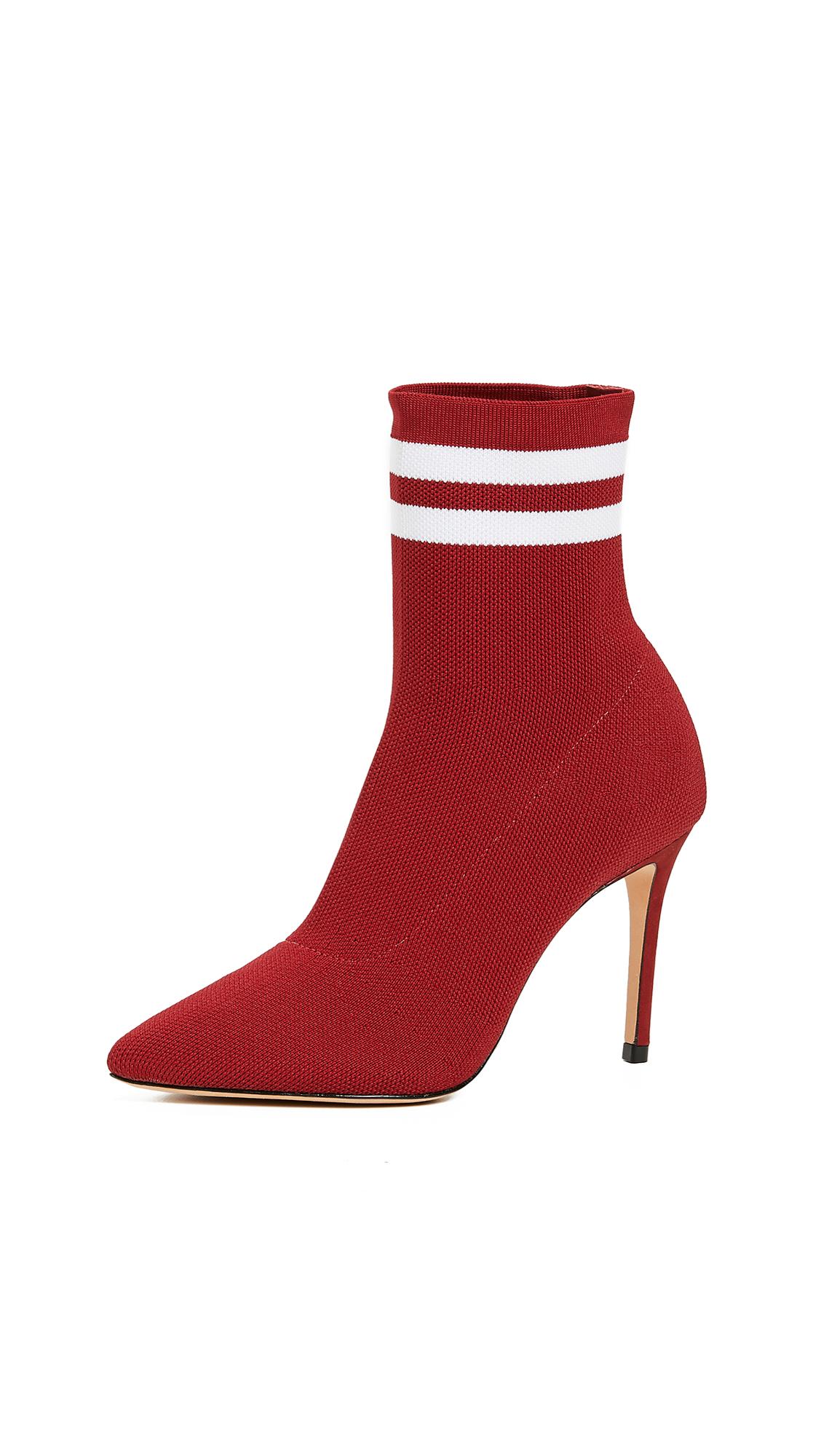 Schutz Gisela Sock Booties - Red