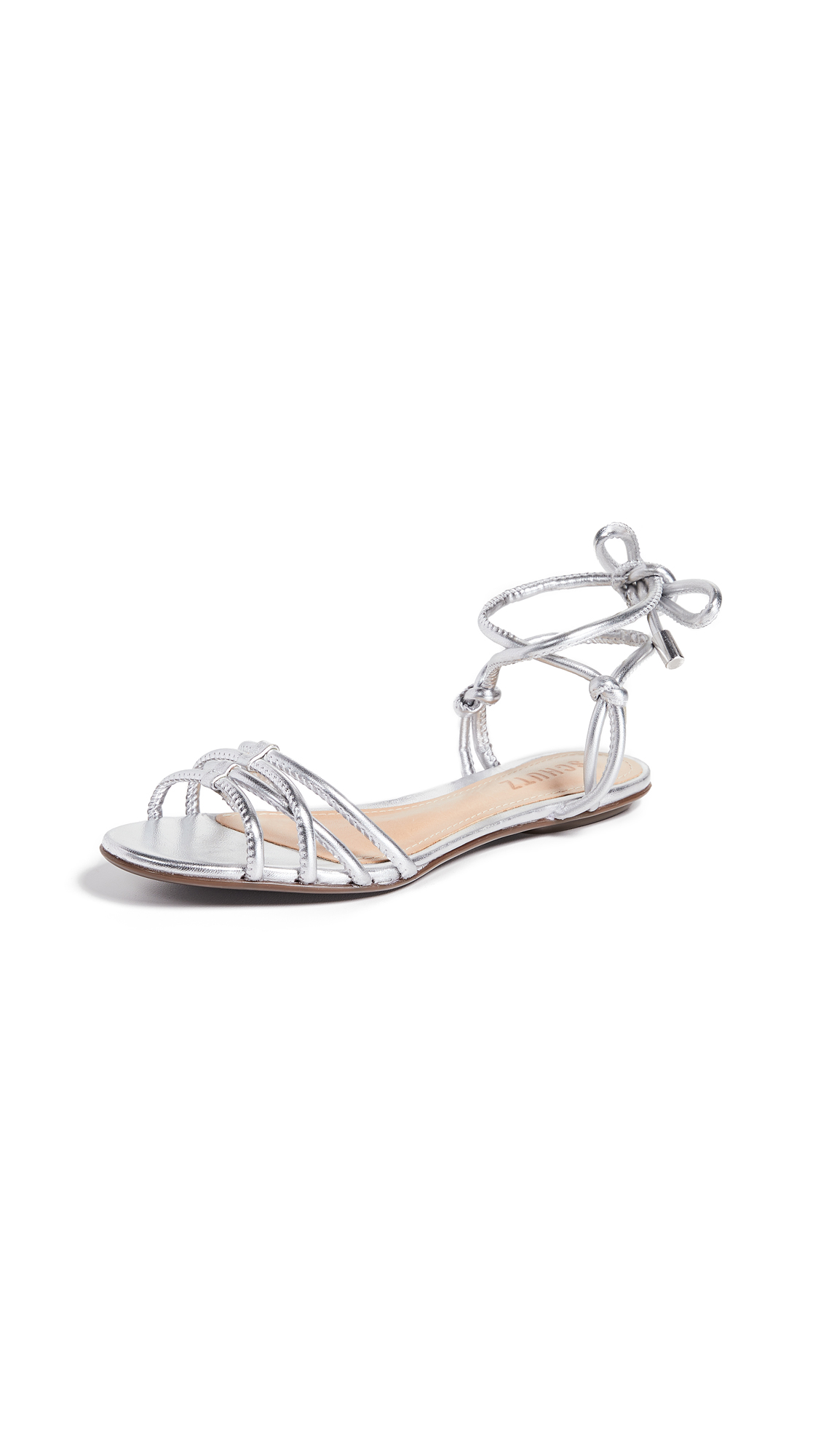 Schutz Eugenie Strappy Sandals - Prata