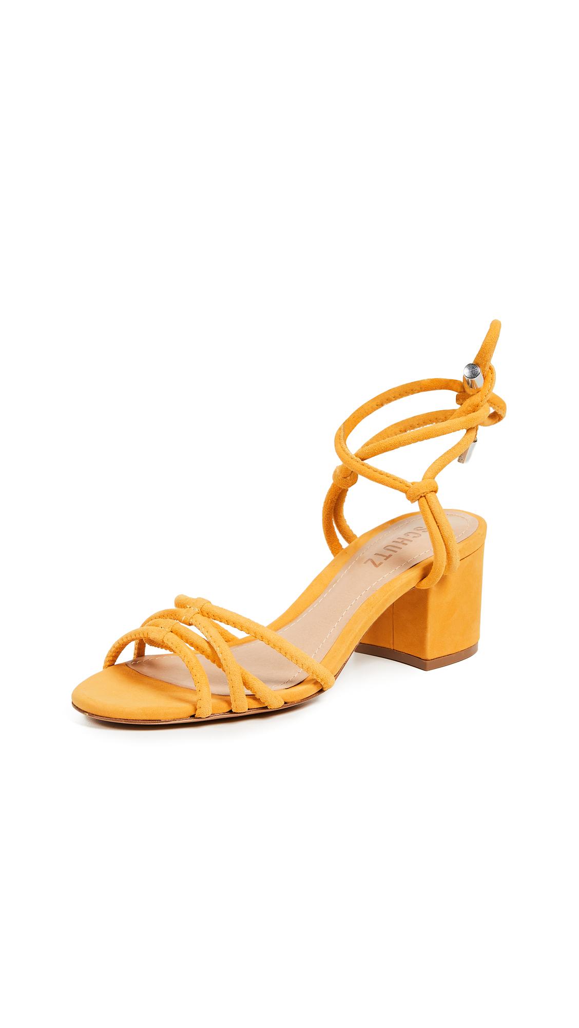 Schutz Marcella Strappy Sandals - Marigold
