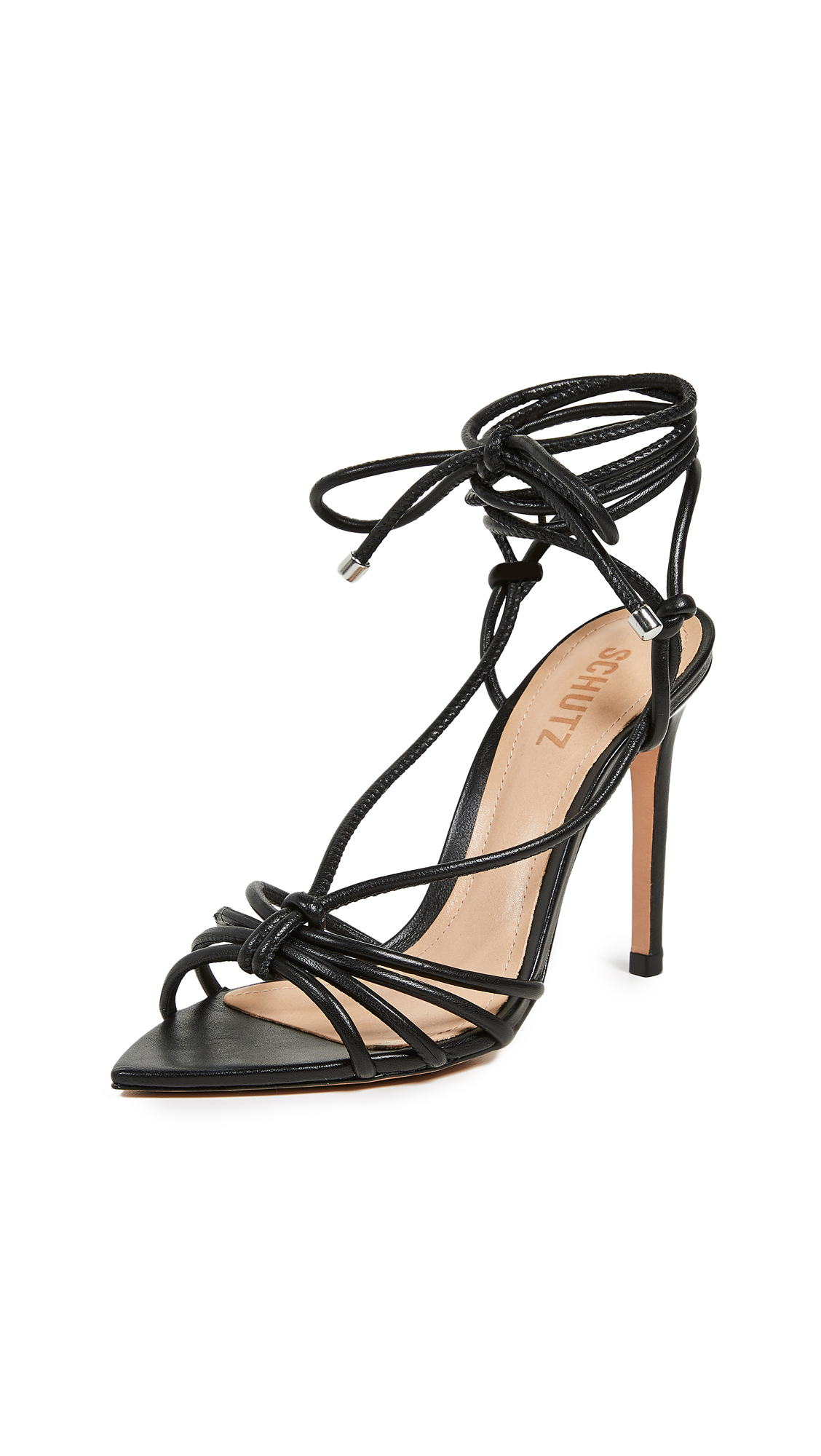 Schutz Meela Strappy Sandals - Black
