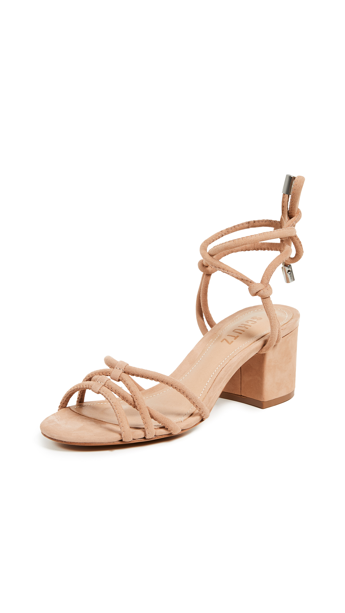 Schutz Marcella Strappy Sandals - Honey Beige