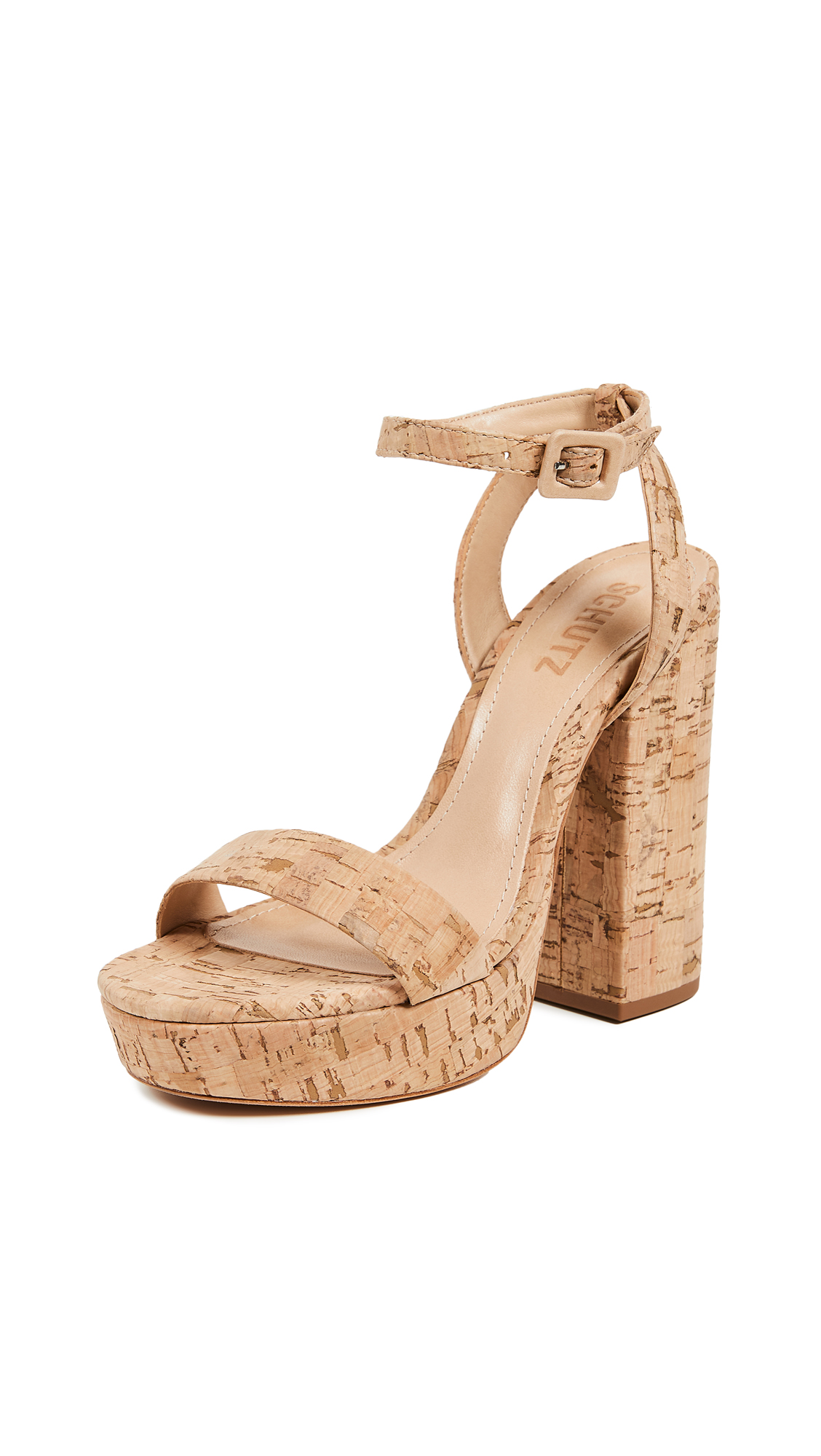 Schutz Martine Platform Sandals - Natural