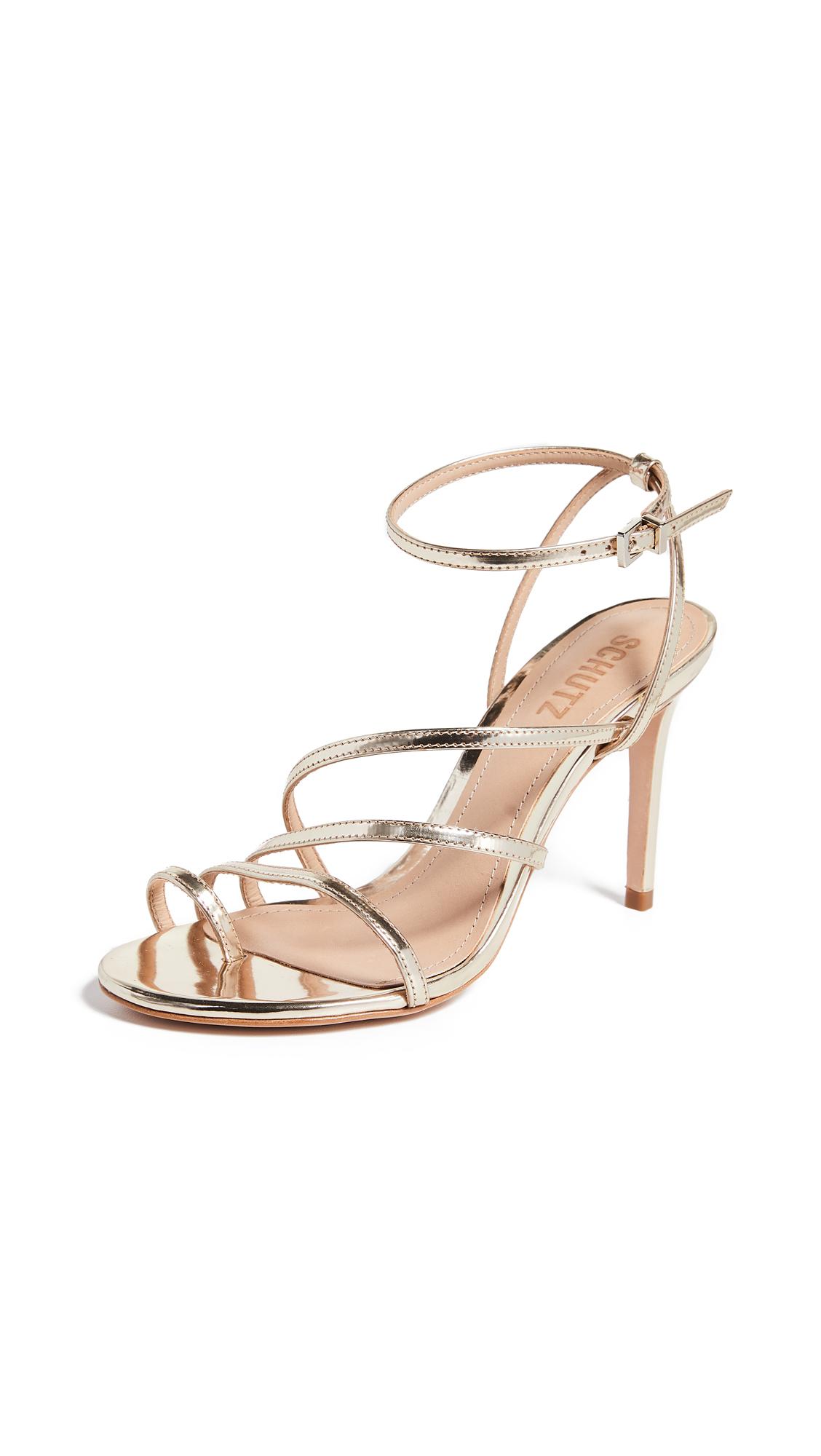 Schutz Raona Strappy Sandals - Platina