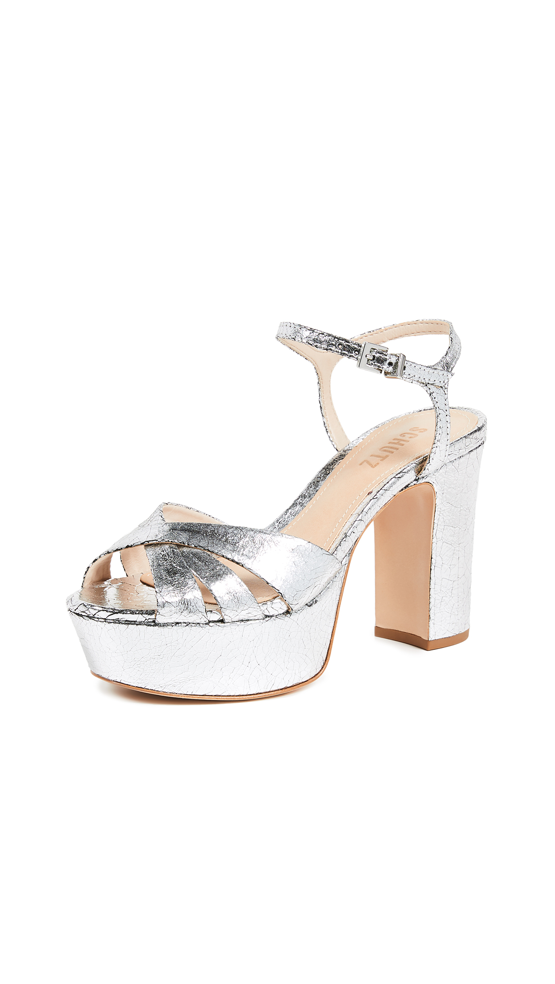 Schutz Keefa Platform Sandals - Prata