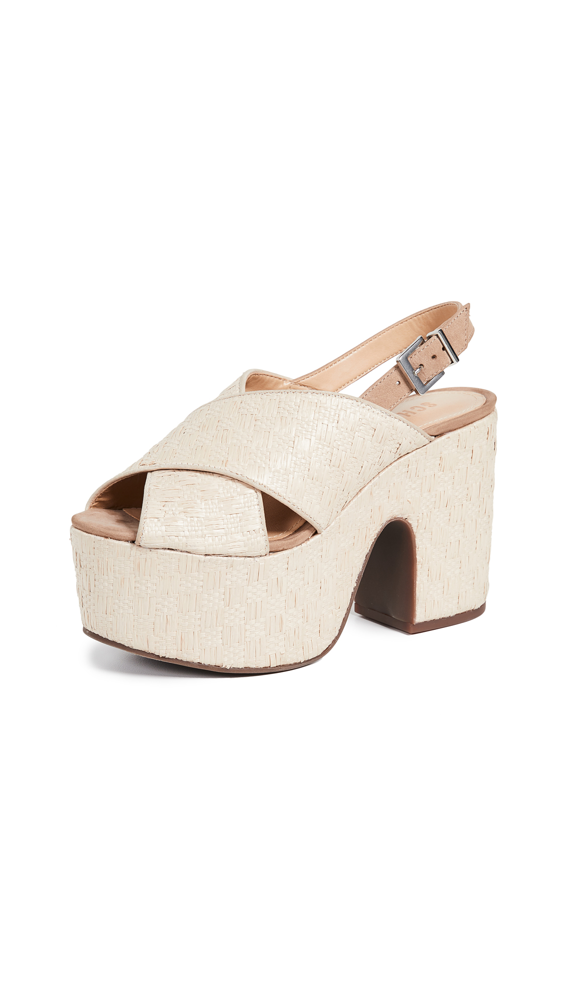 Schutz Kallina Platform Sandals - Natural