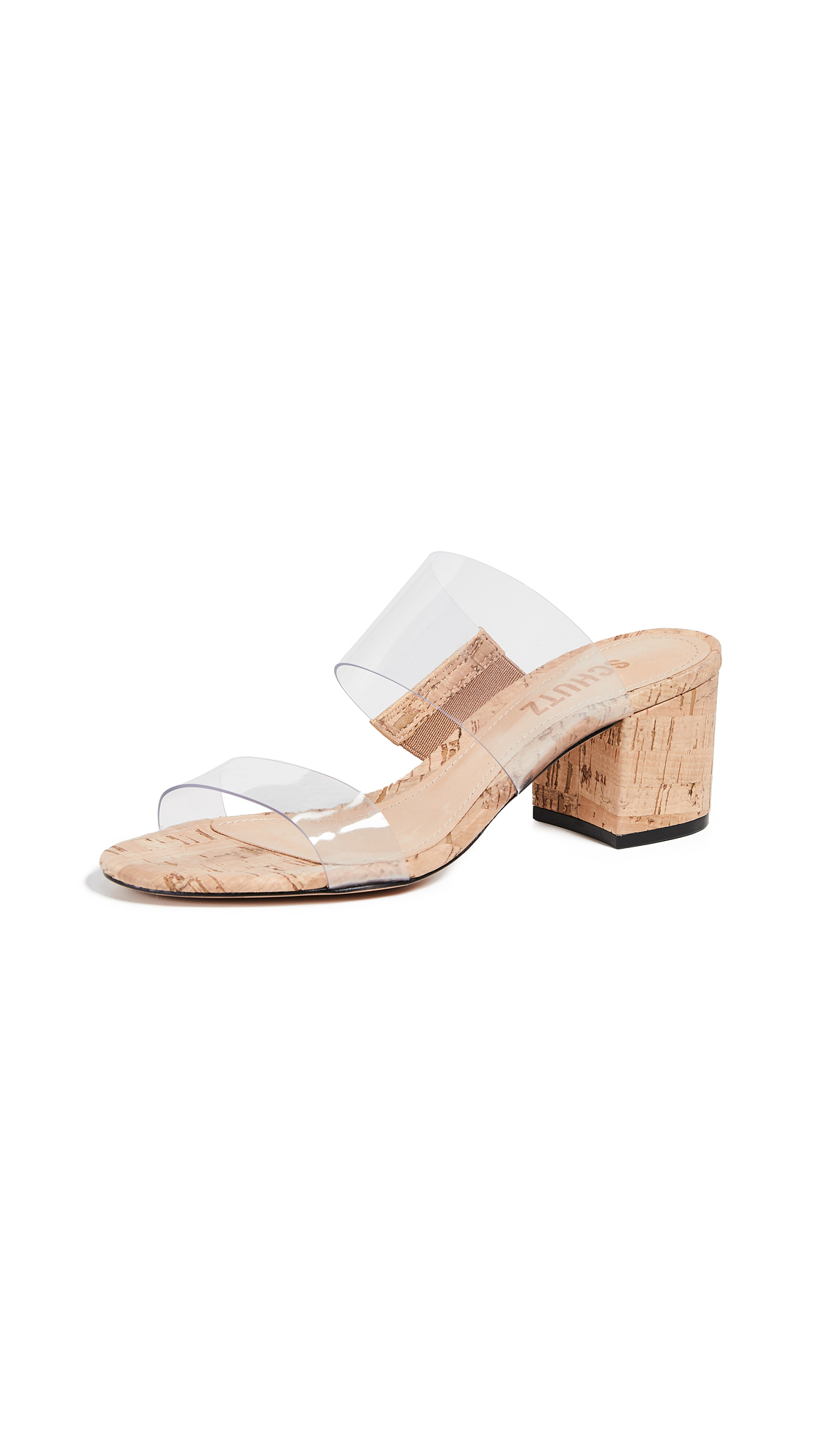 Victorie Double Strap Vinyl Sandals in Transparent from SCHUTZ-SHOES