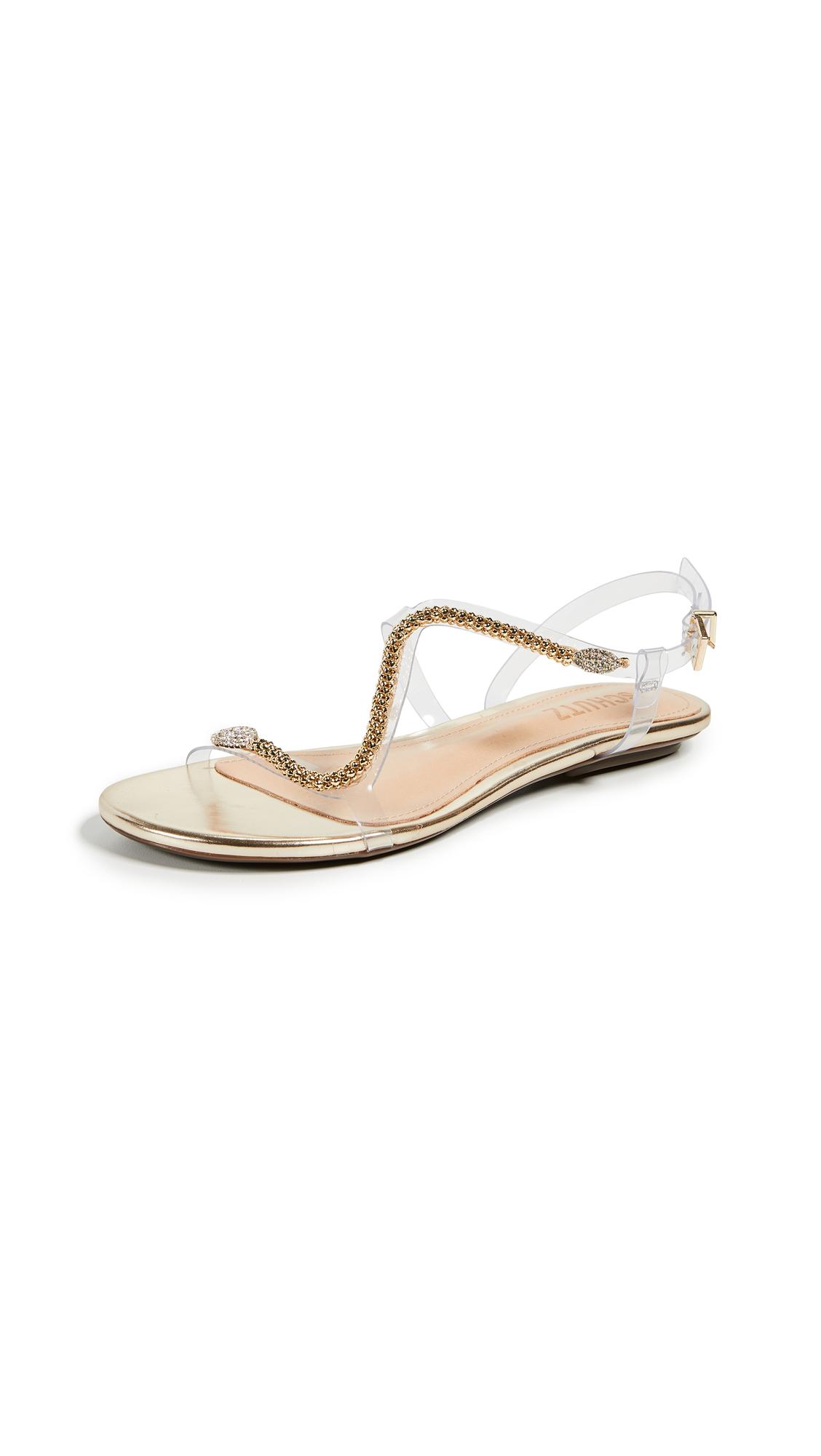 Schutz Gabby Vinyl Sandals - Transparent/Platina