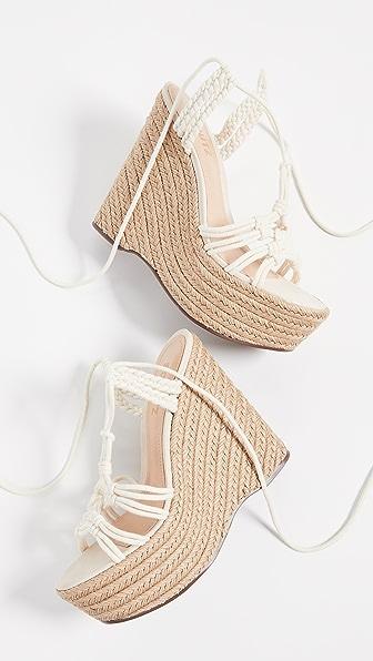 Schutz Women's Macris Espadrille Wedge-heel Platform Sandals In Cru