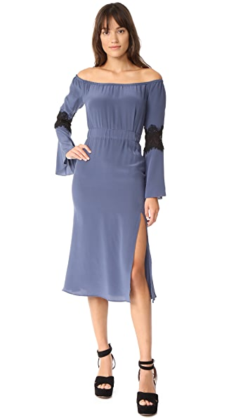 Stone Cold Fox Nicholson Dress In Steel Blue