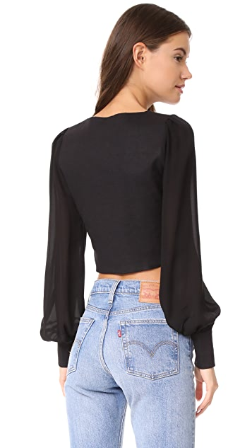 Stone Cold Fox Cropped Blouse