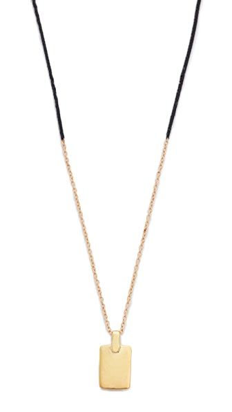 Scosha Tag Braid Necklace