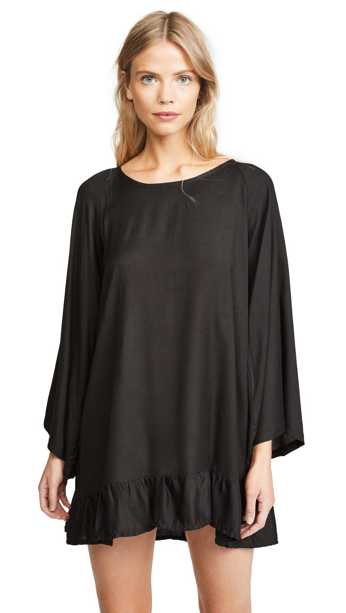 SUNDRESS Indiana Basic Short Beach Dress - Black/Turquoise